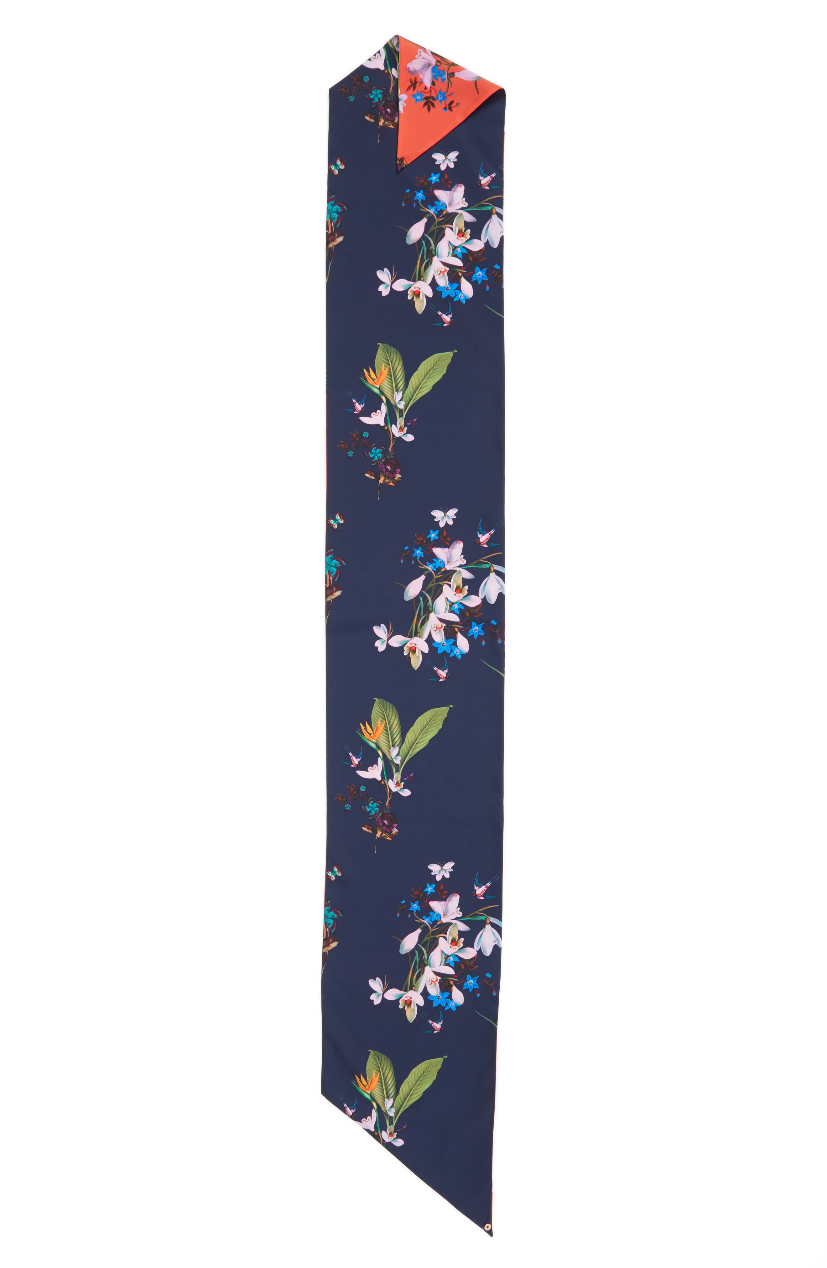 Tropical Oasis Skinny Scarf,                             Alternate thumbnail 3, color,                             400