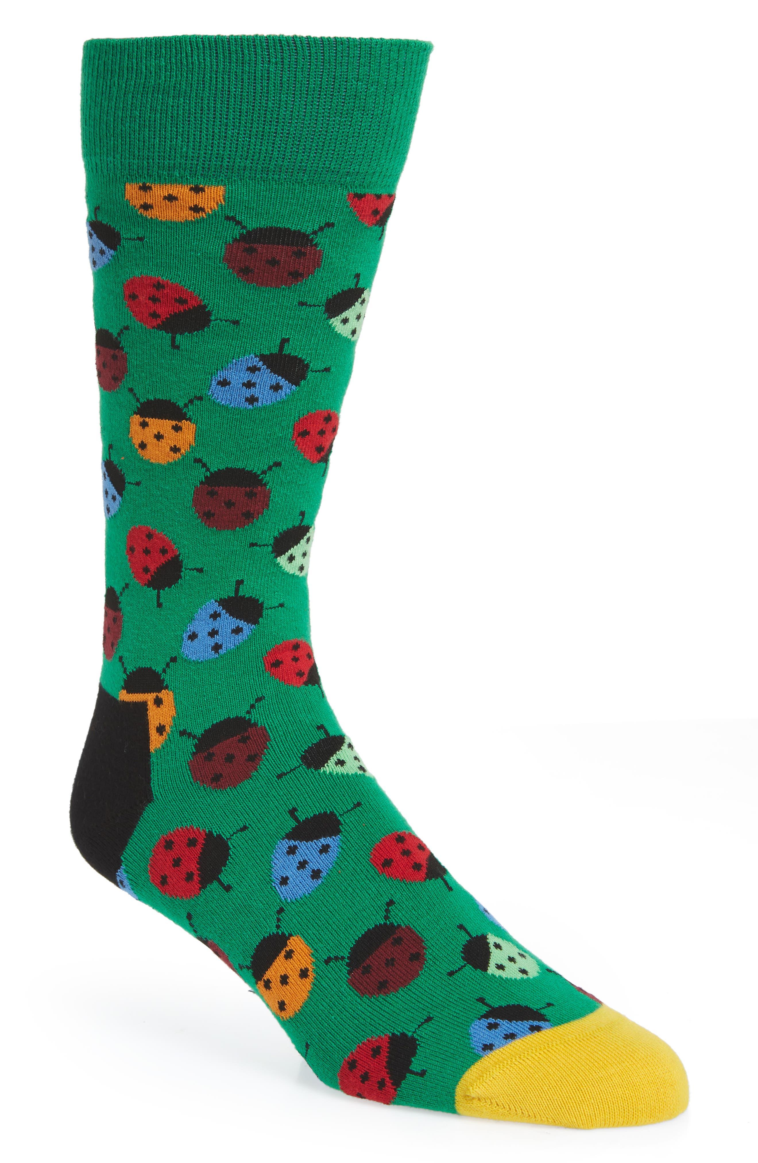 Ladybug Socks,                         Main,                         color, 314