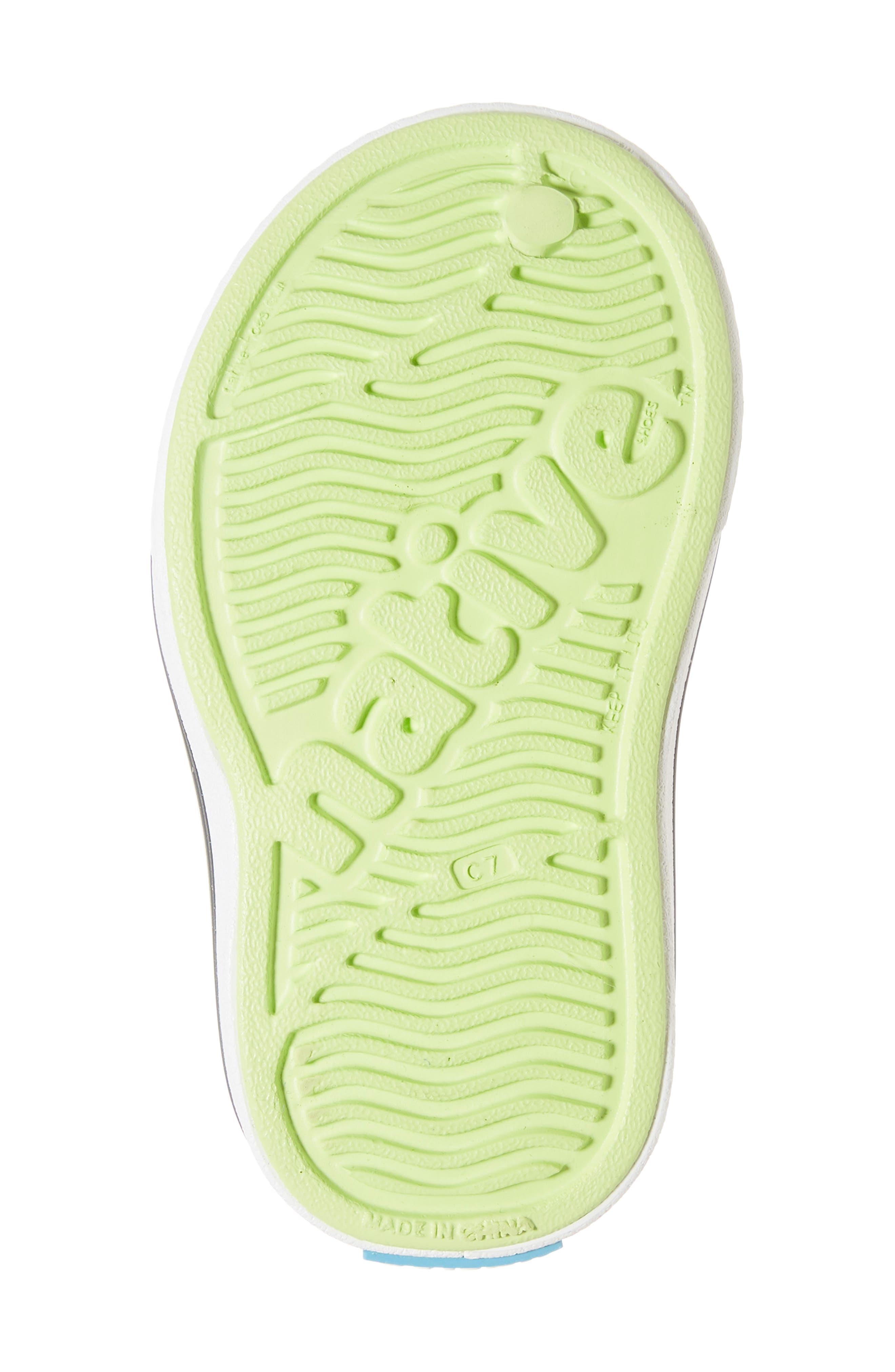 Miles Colorblock Slip-On Sneaker,                             Alternate thumbnail 6, color,                             SUNNY GREEN/ SHELL WHITE