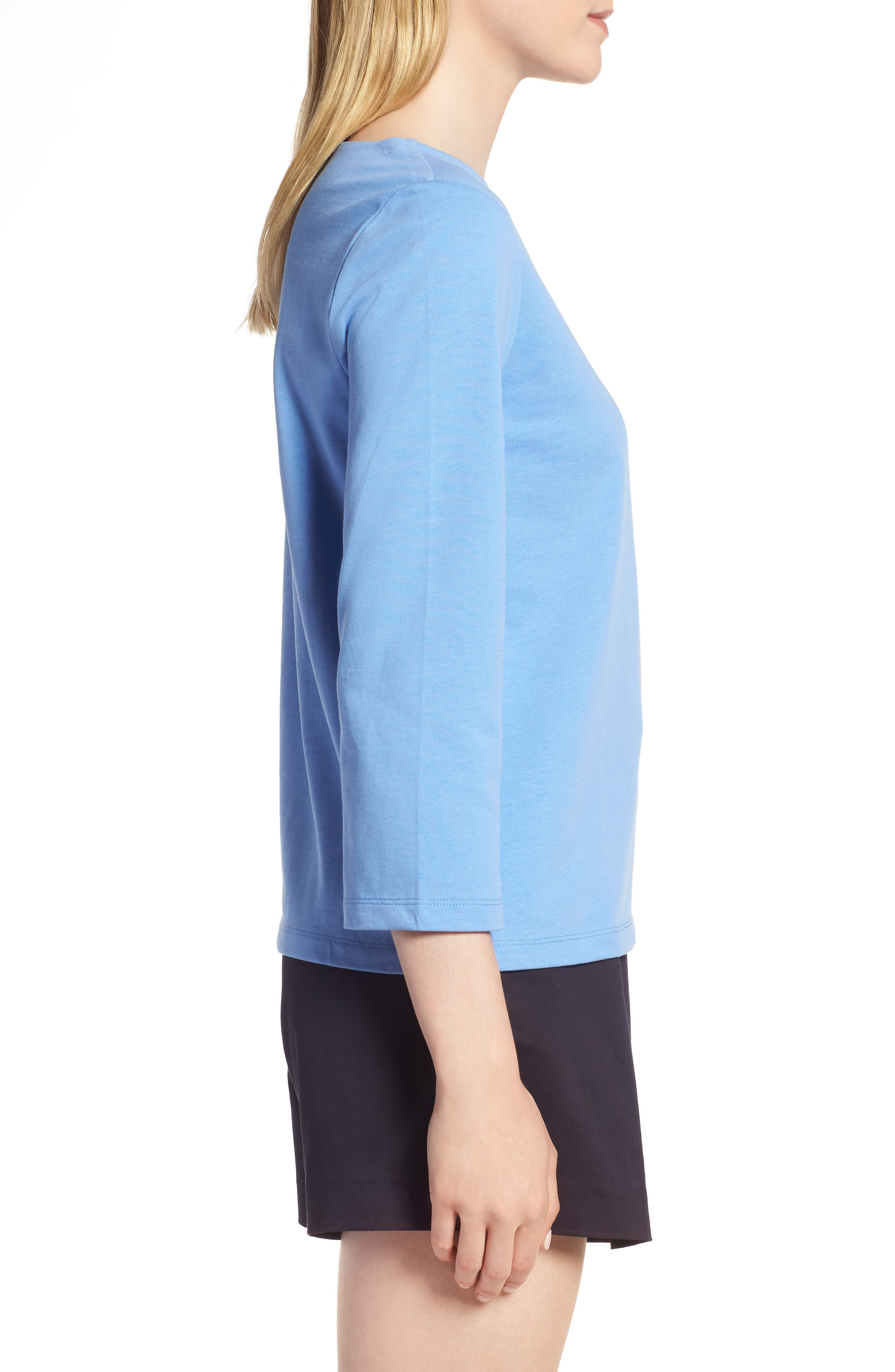 Shoulder Button Cotton Top,                             Alternate thumbnail 12, color,
