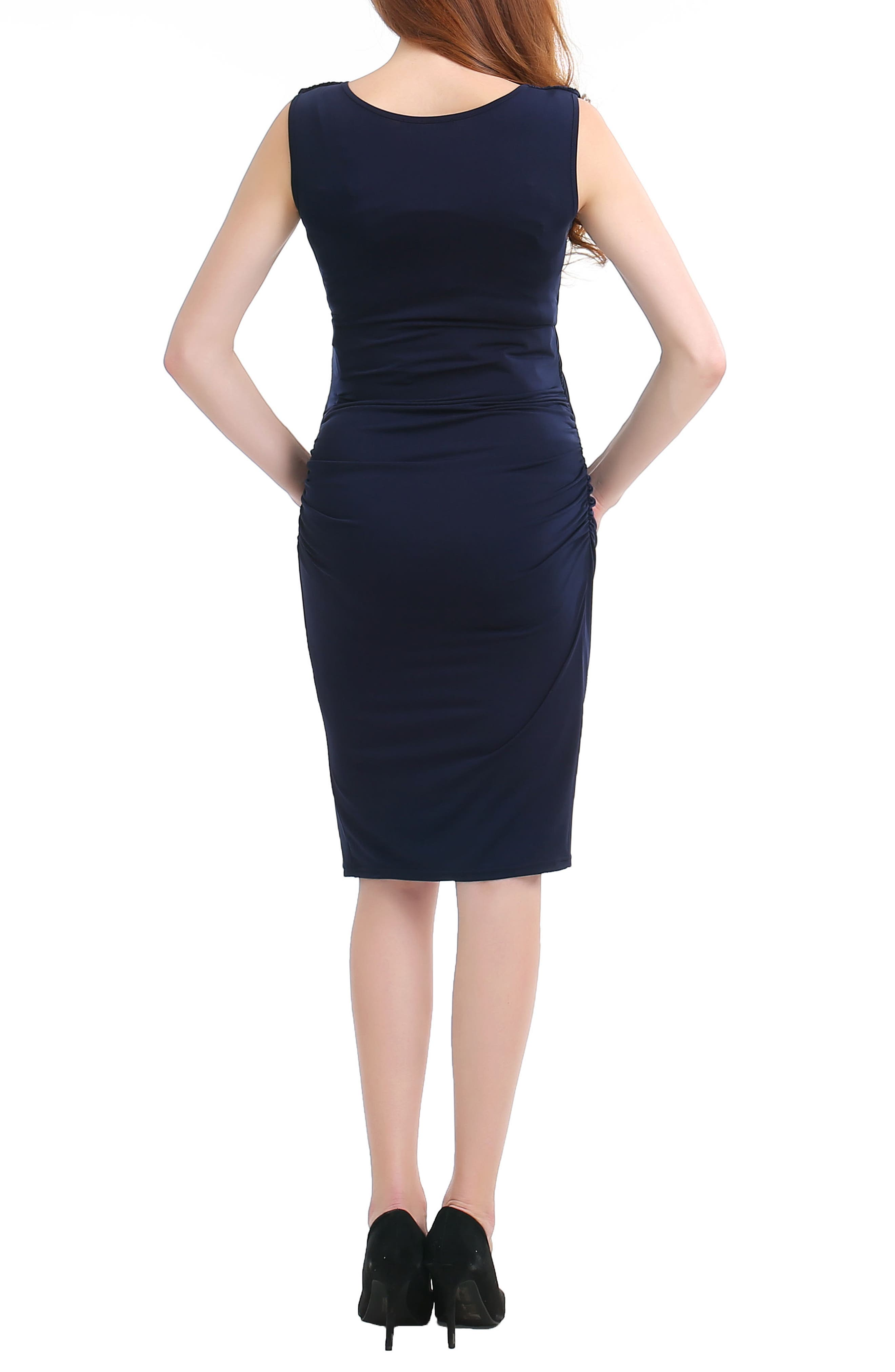 Bonnie Wrap Maternity Dress,                             Alternate thumbnail 4, color,