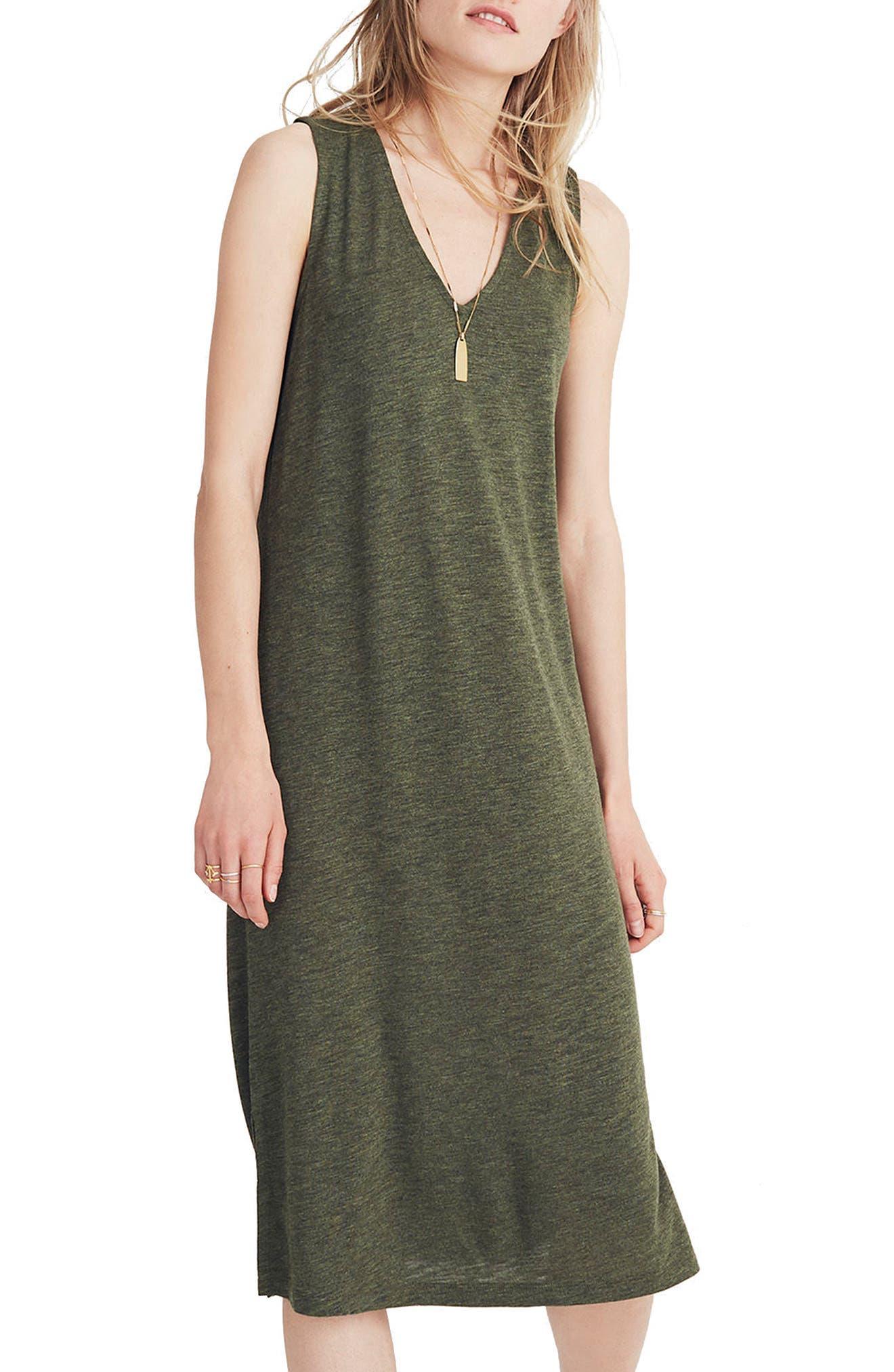 V-Neck Jersey Tank Dress,                             Main thumbnail 1, color,                             300