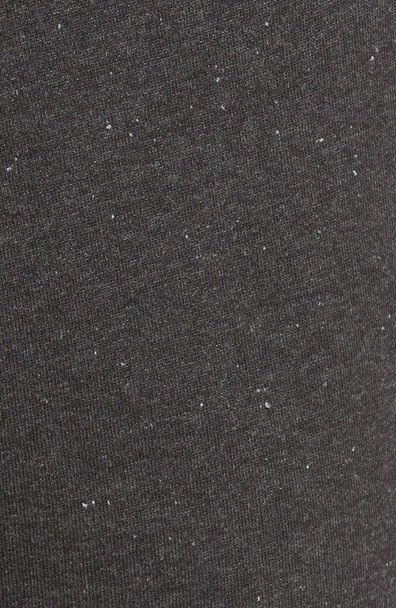 Wyatt Terry Cotton Blend Lounge Pants,                             Alternate thumbnail 5, color,                             BLACK