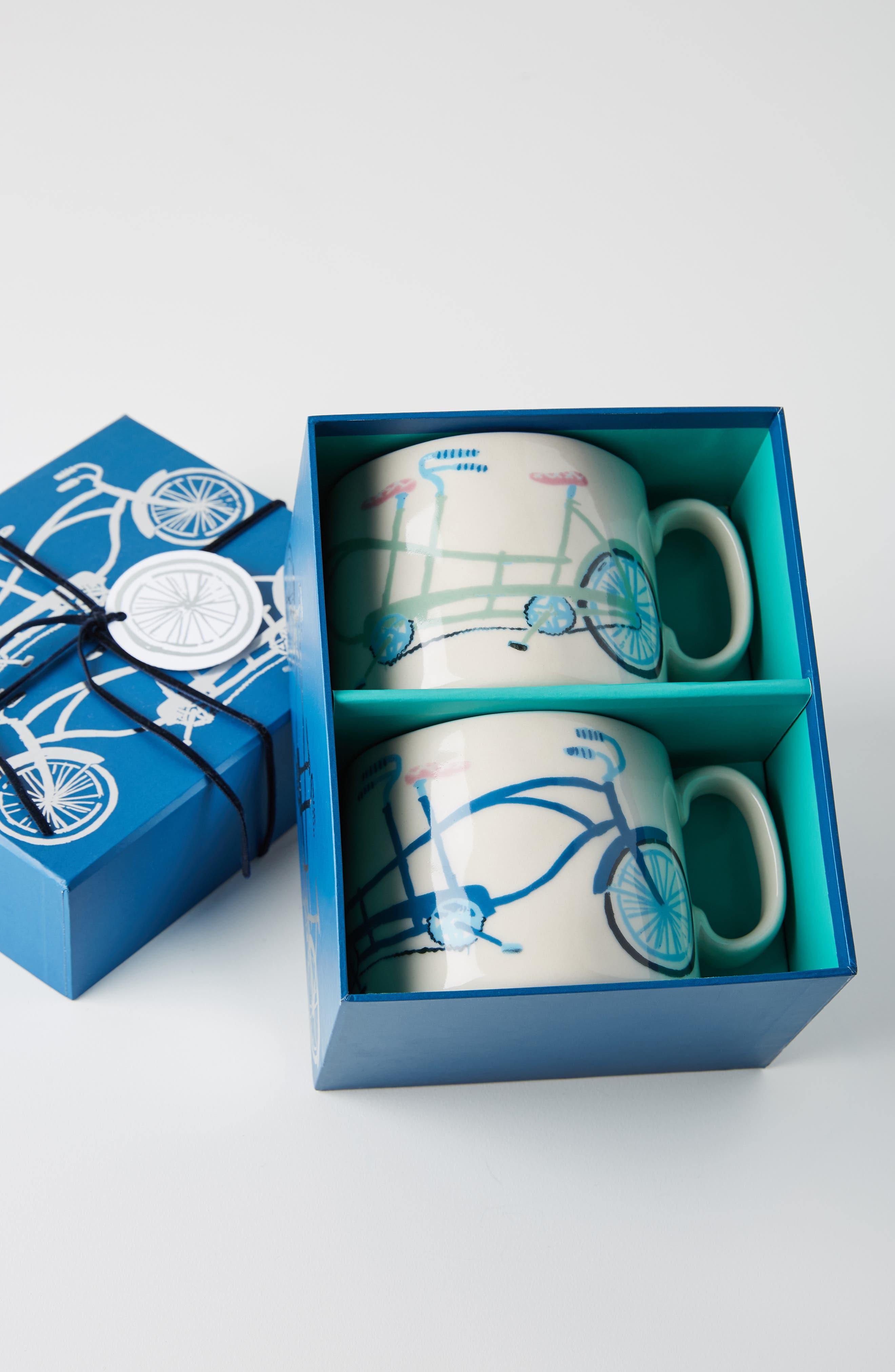 ANTHROPOLOGIE,                             Tandem Mug Set of 2 Mugs,                             Alternate thumbnail 3, color,                             BETTER TOGETHER