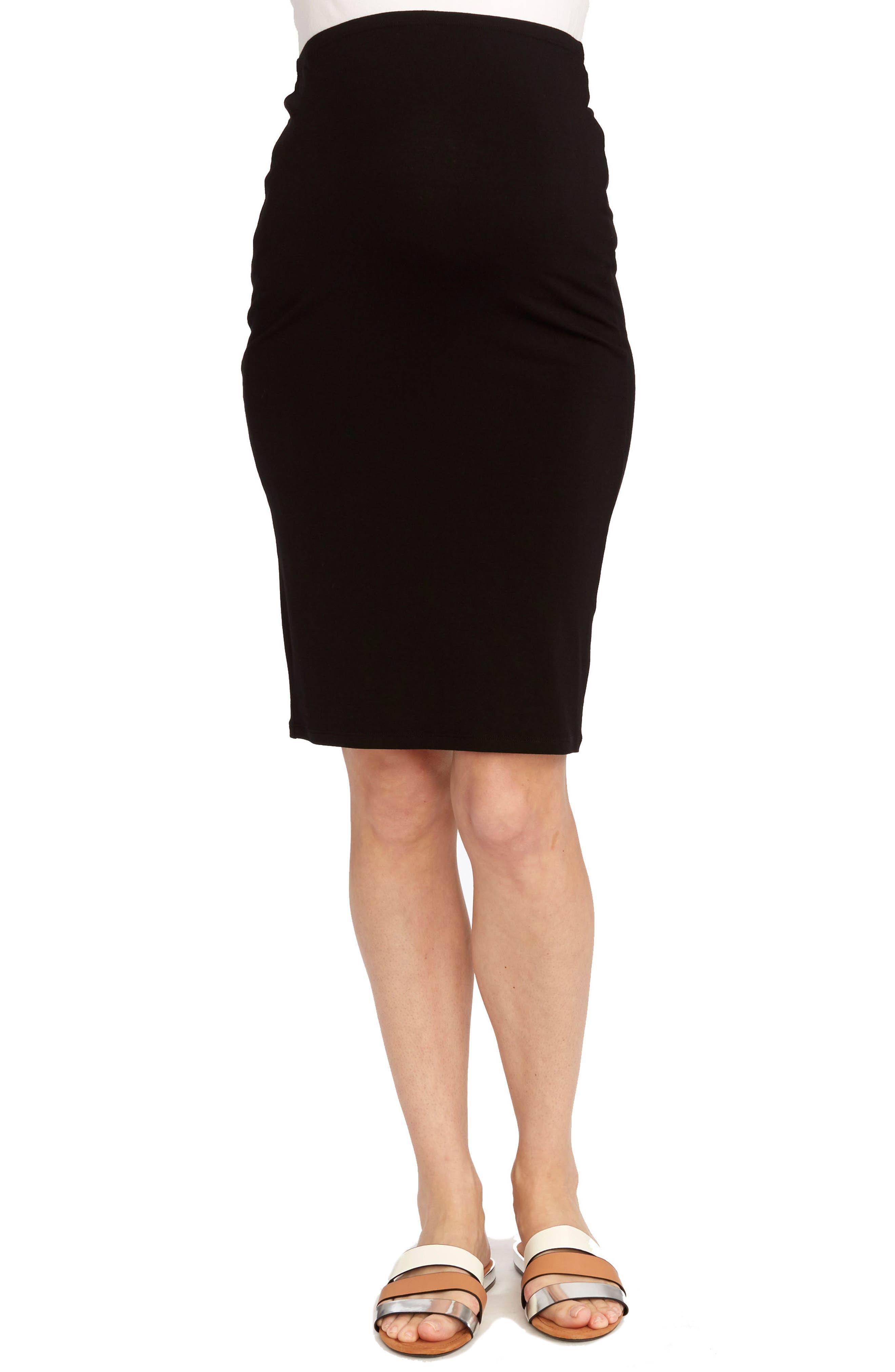Adeline Maternity Skirt,                             Main thumbnail 1, color,                             BLACK