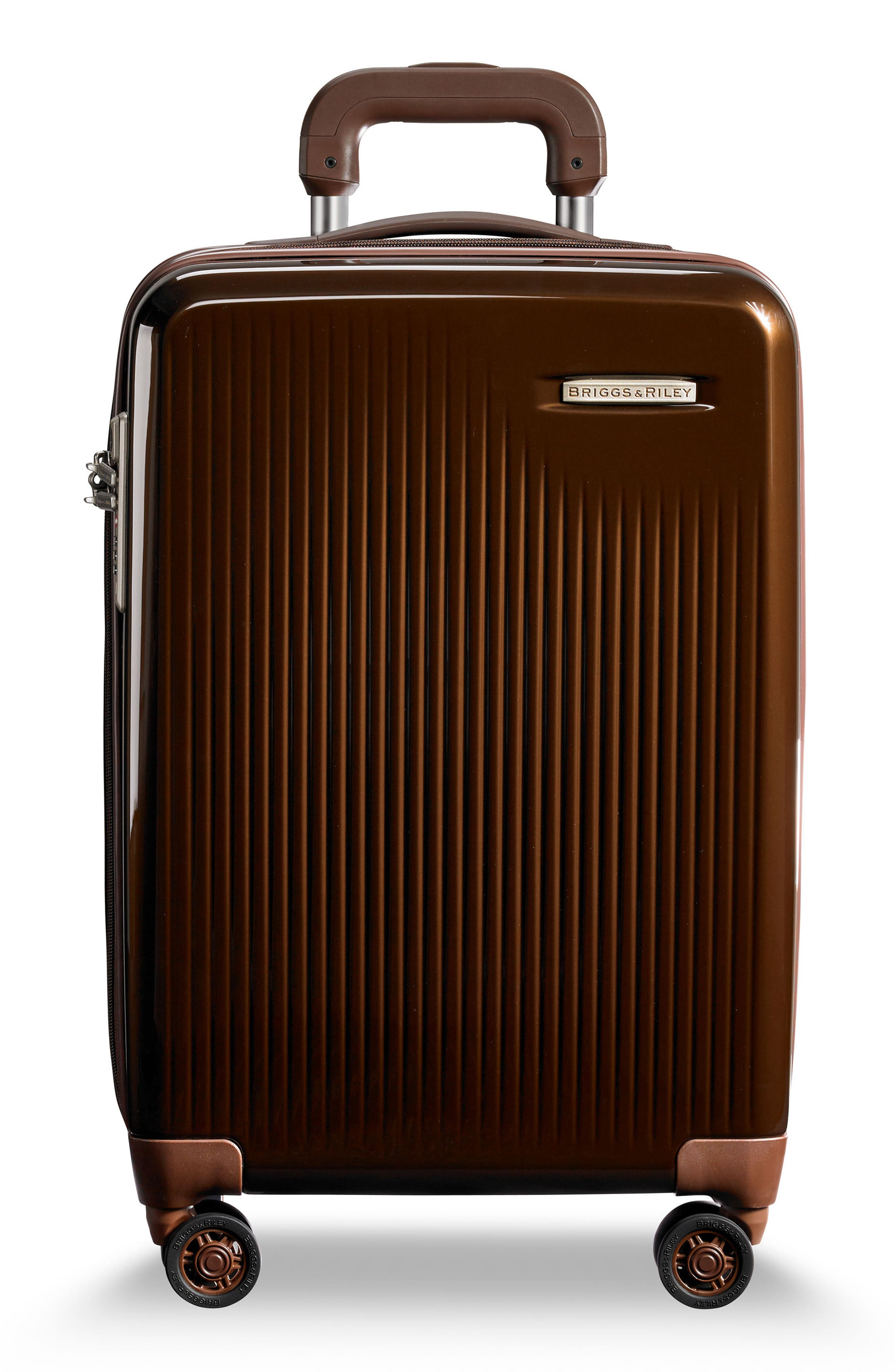 BRIGGS & RILEY Sympatico 21-Inch Expandable Wheeled Carry-On, Main, color, BRONZE