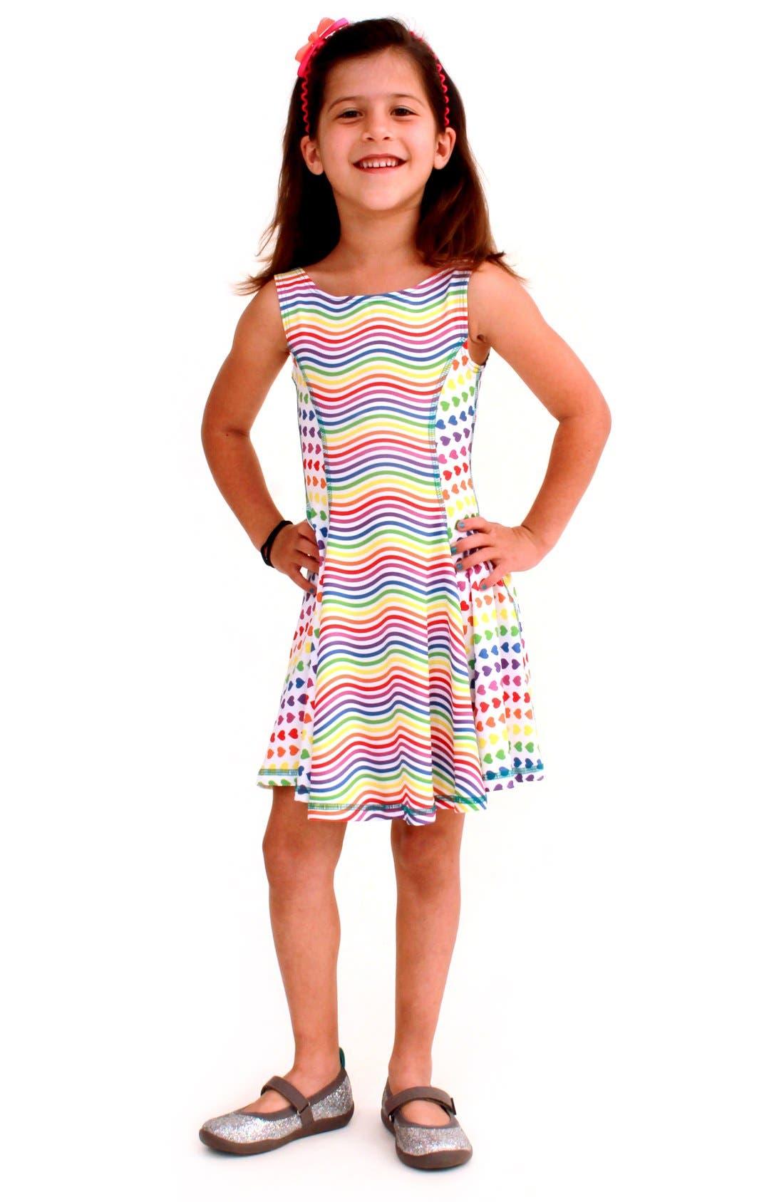 Flow Mixed Print Dress,                             Main thumbnail 12, color,