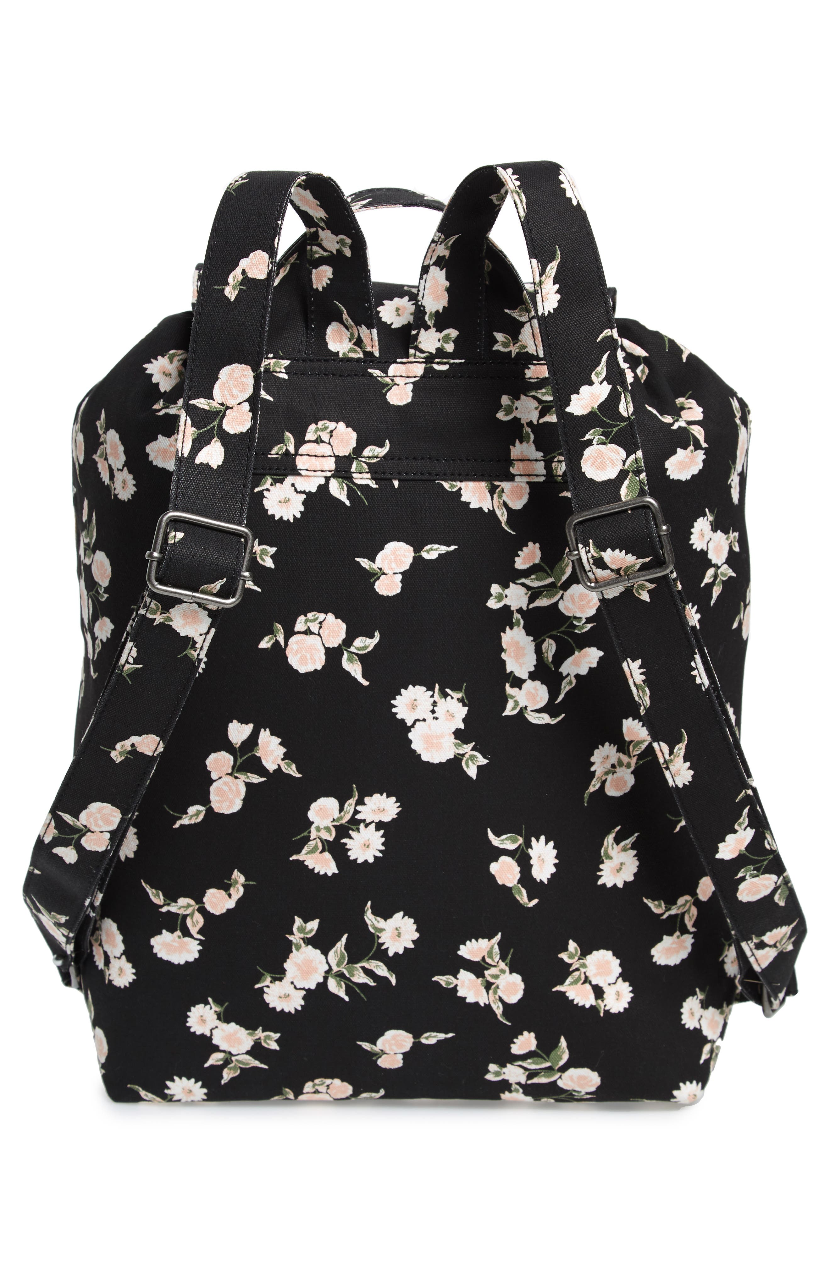 Lakeside Floral Print Backpack,                             Alternate thumbnail 3, color,                             001