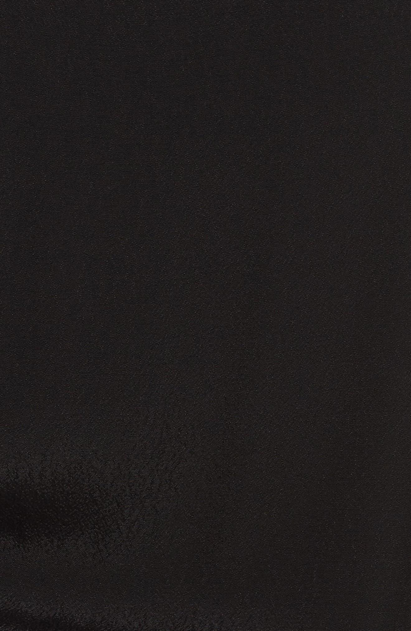 Flutter Sleeve Jumpsuit,                             Alternate thumbnail 5, color,                             BLACK