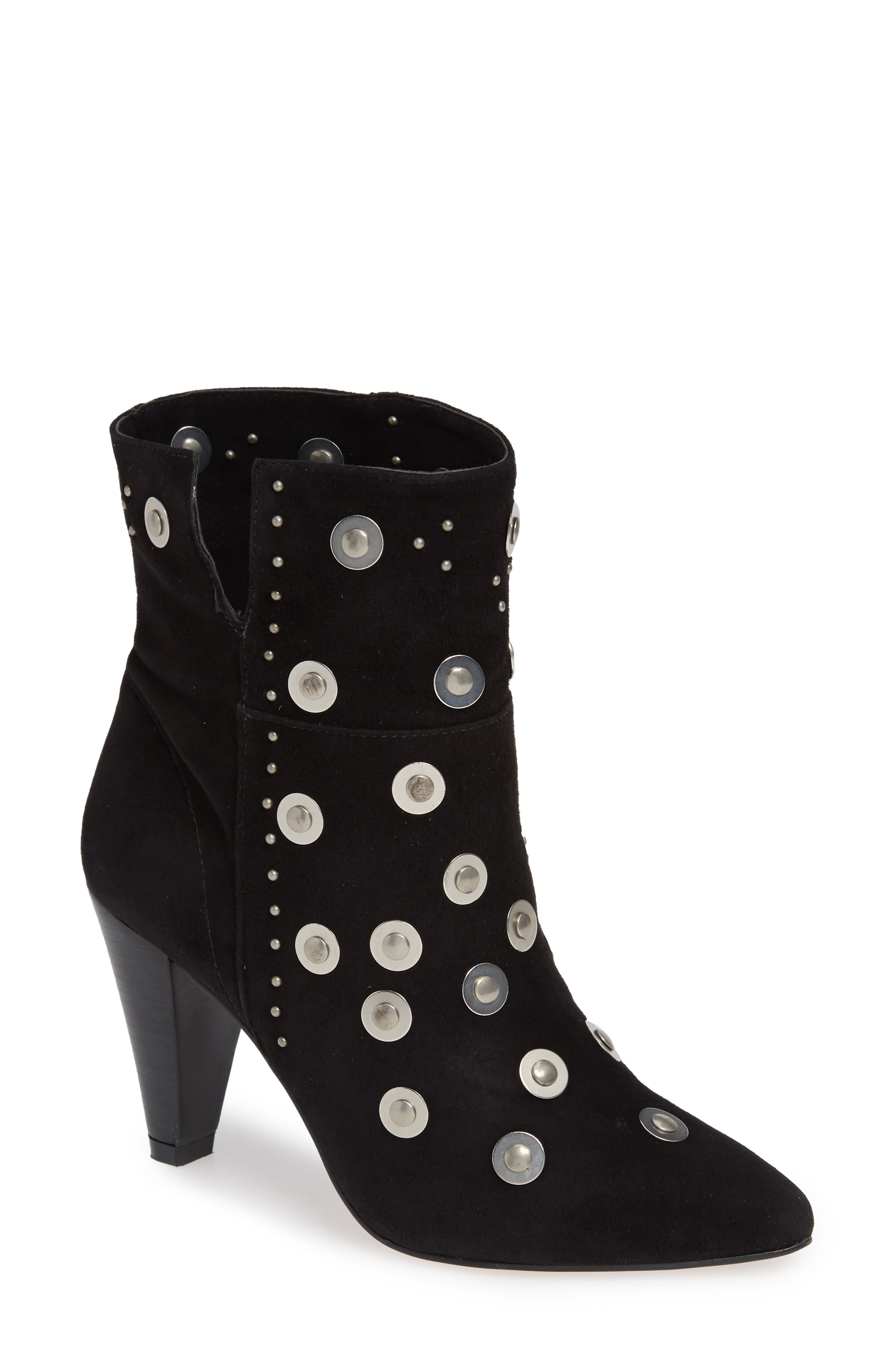 LUST FOR LIFE Casablanca Stud Bootie in Black Nubuck Leather