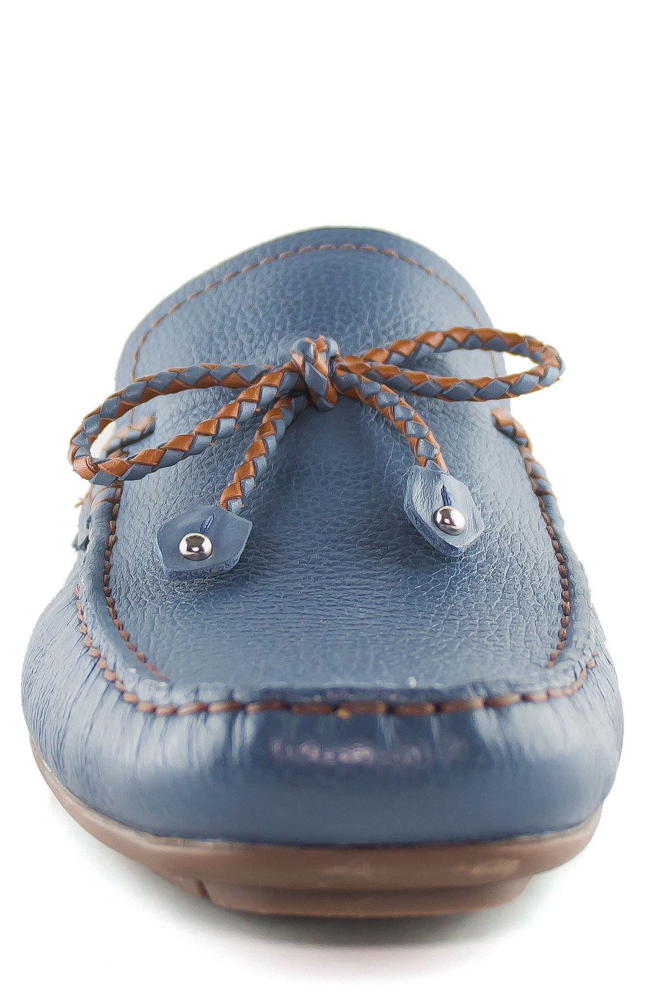 'Cypress' Moccasin,                             Alternate thumbnail 4, color,                             STEEL BLUE