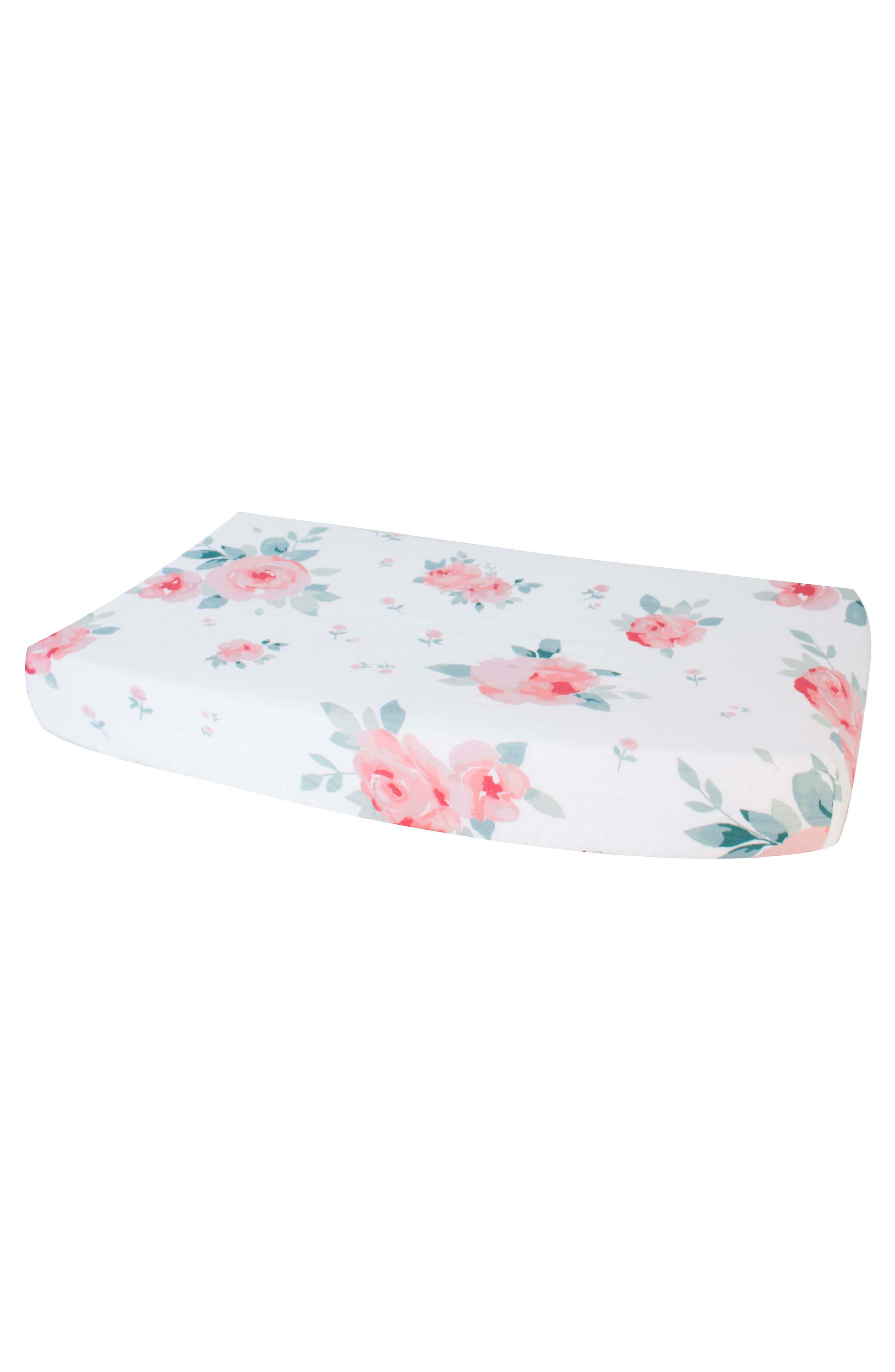 Oh So Soft Muslin Changing Pad Cover,                             Main thumbnail 1, color,                             ROSY