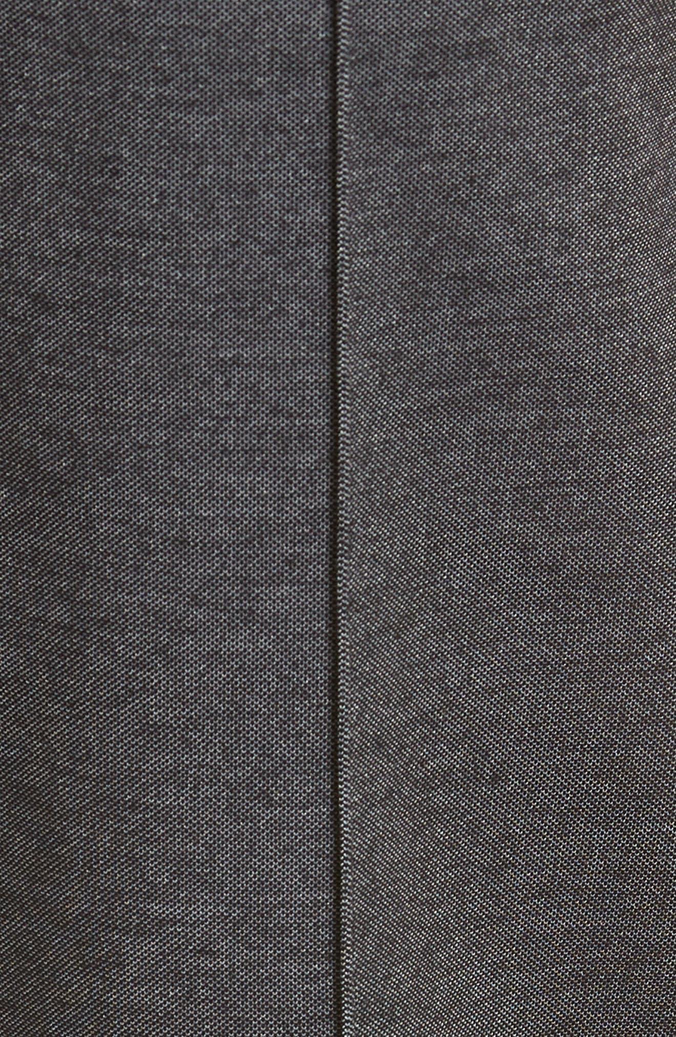 Cotton Blend Track Pants,                             Alternate thumbnail 5, color,                             BLACK