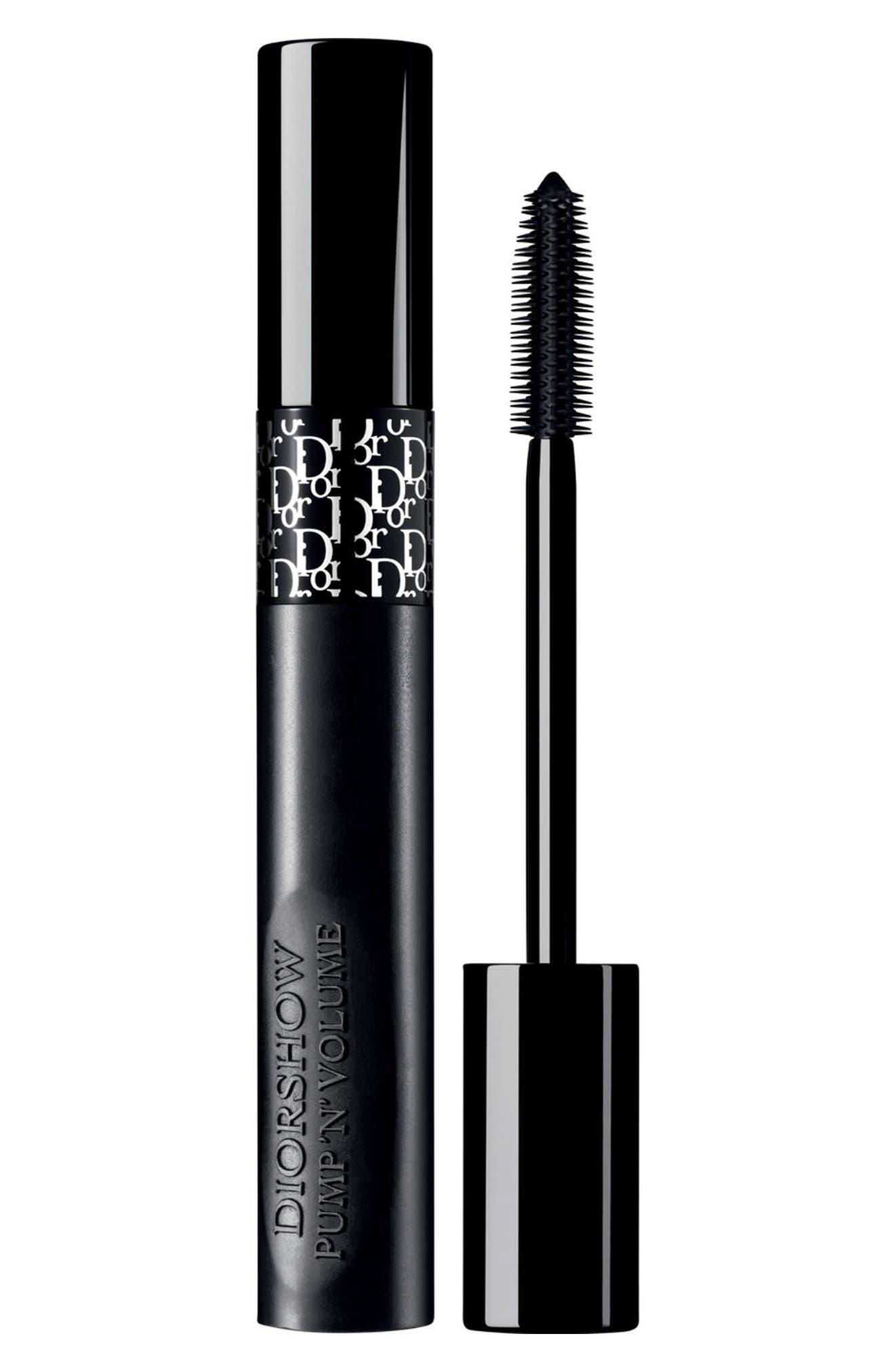 DIOR,                             Diorshow PumpnVolume Instant Volume Squeezable Mascara,                             Main thumbnail 1, color,                             090 BLACK PUMP