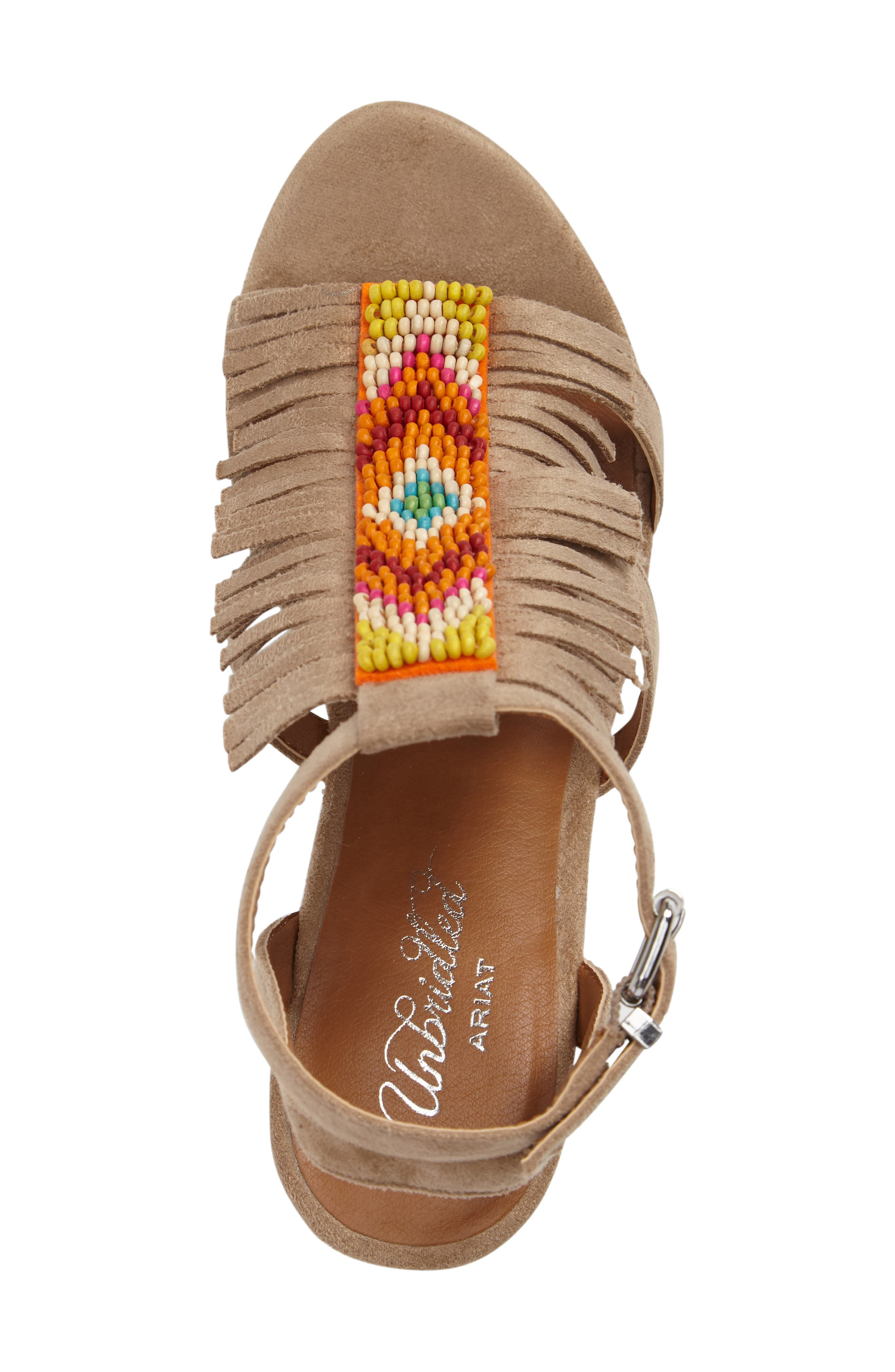 Unbridled Lolita Wedge Sandal,                             Alternate thumbnail 5, color,
