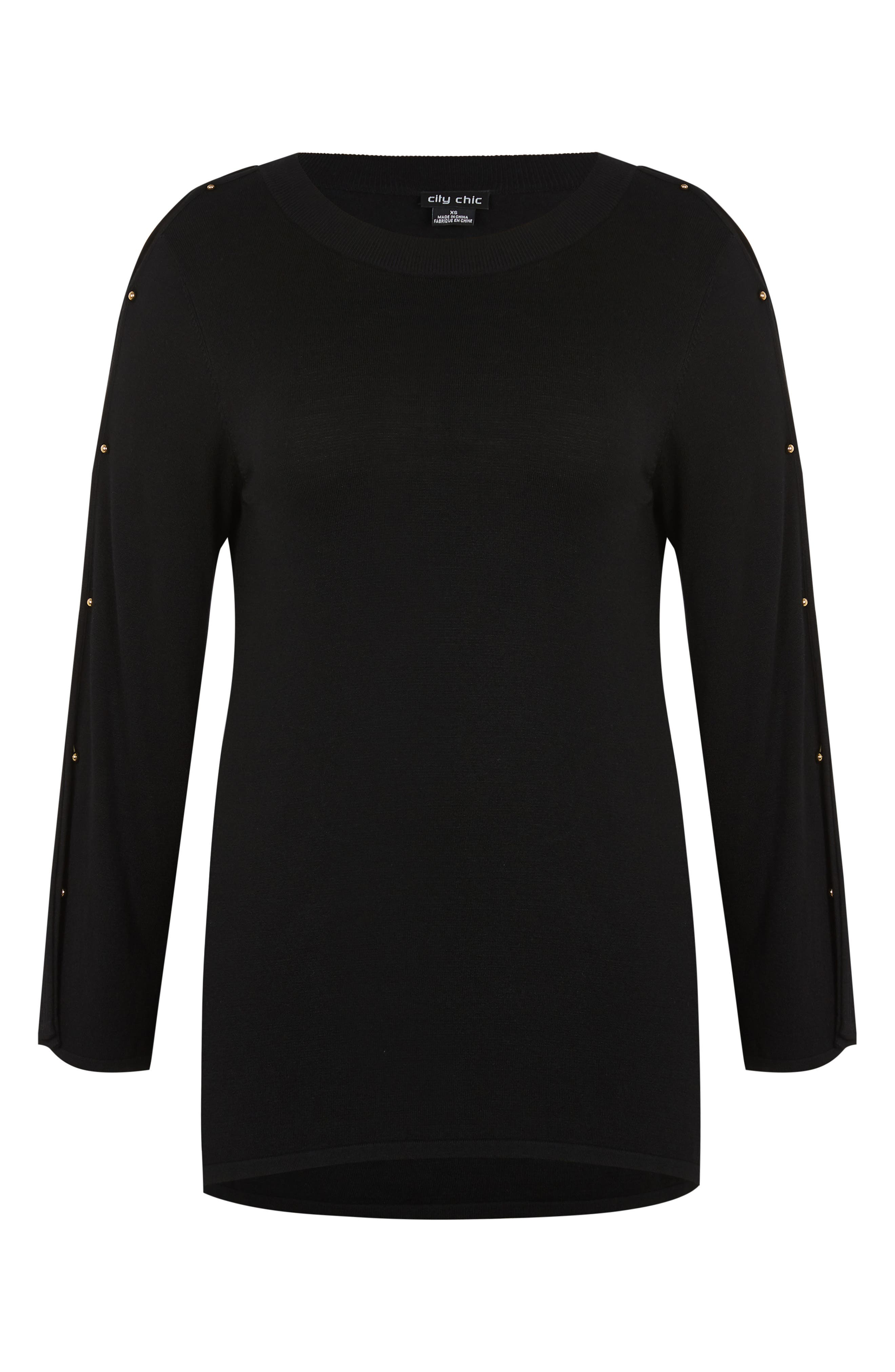 Barbell Sweater,                             Alternate thumbnail 3, color,                             001