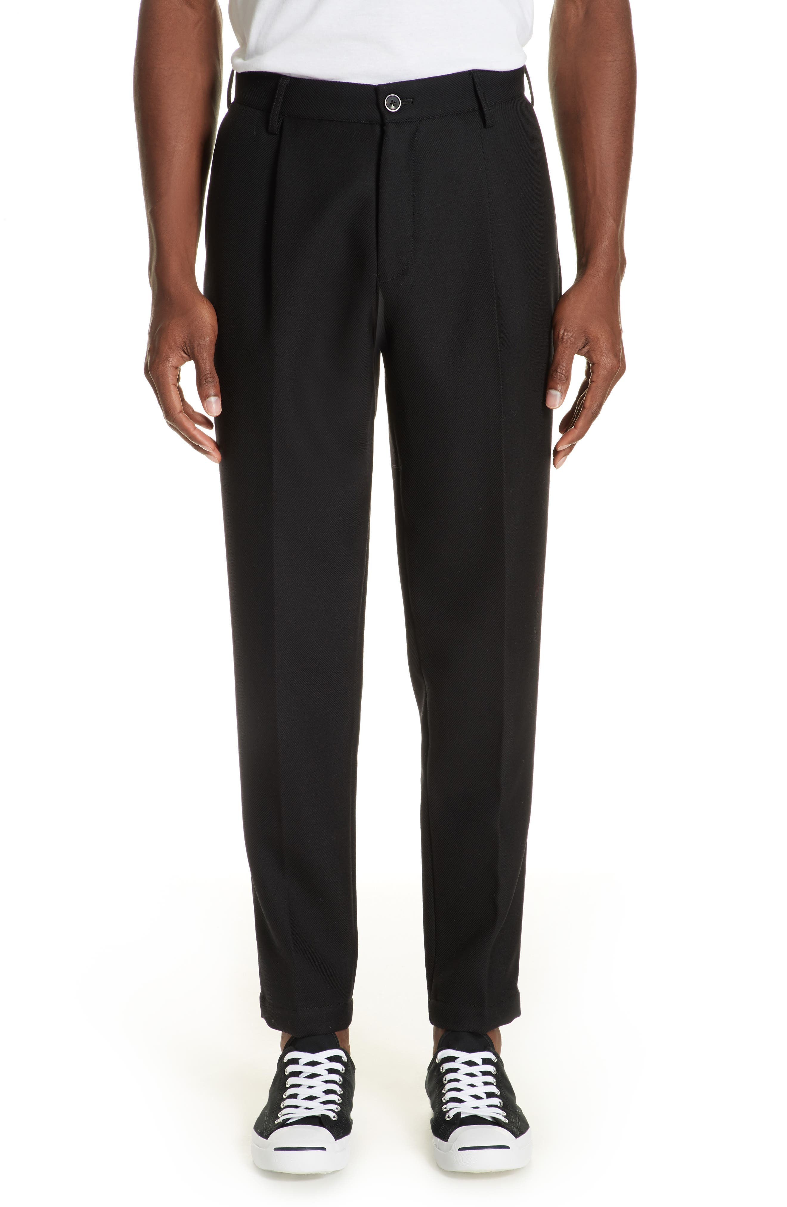 Pleated Pants,                             Main thumbnail 1, color,                             BLACK