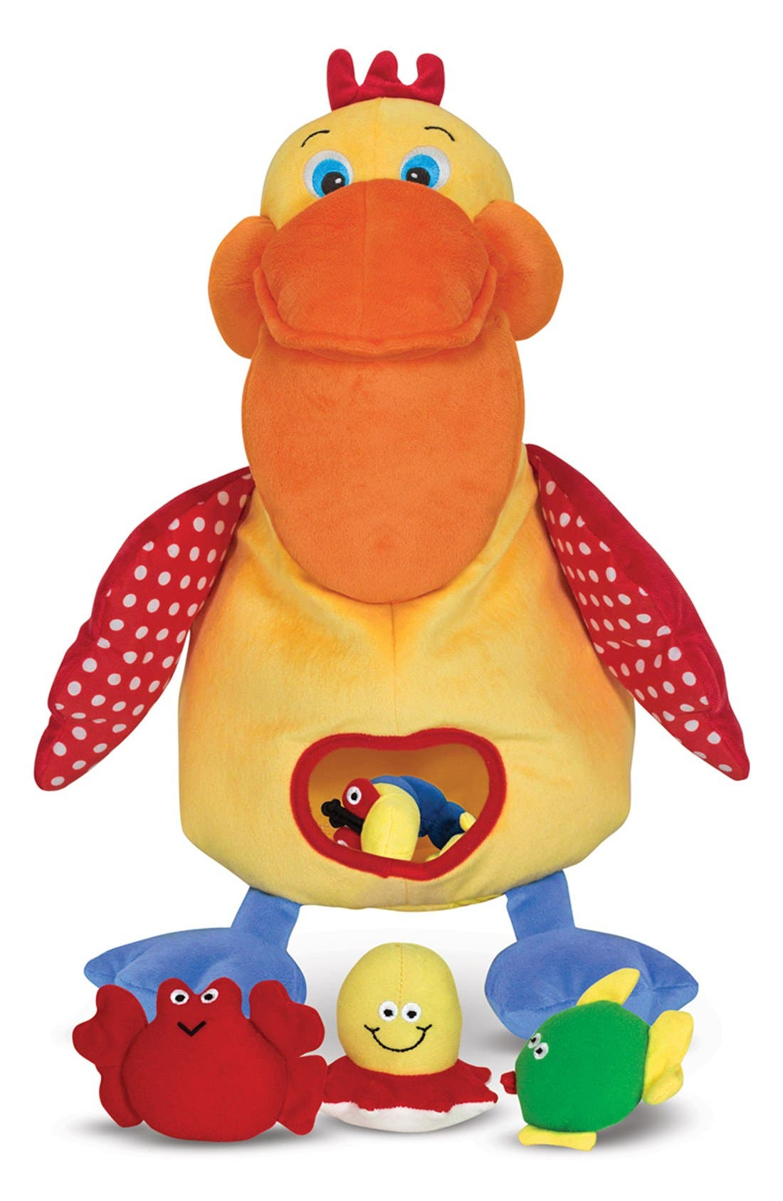 'Hungry Pelican' Plush Toy,                             Main thumbnail 1, color,                             YELLOW