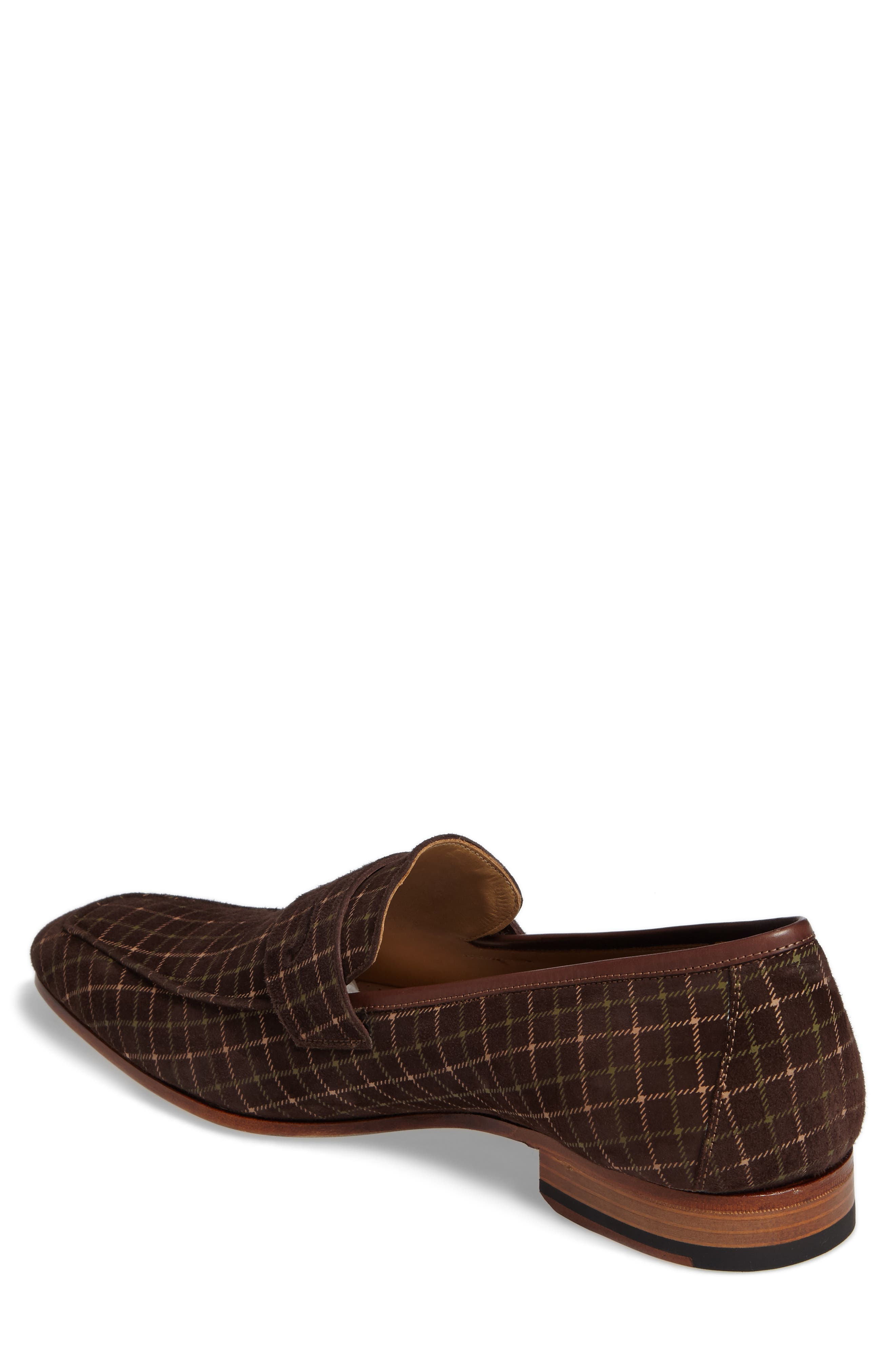Galen Tattersall Penny Loafer,                             Alternate thumbnail 2, color,                             BROWN SUEDE