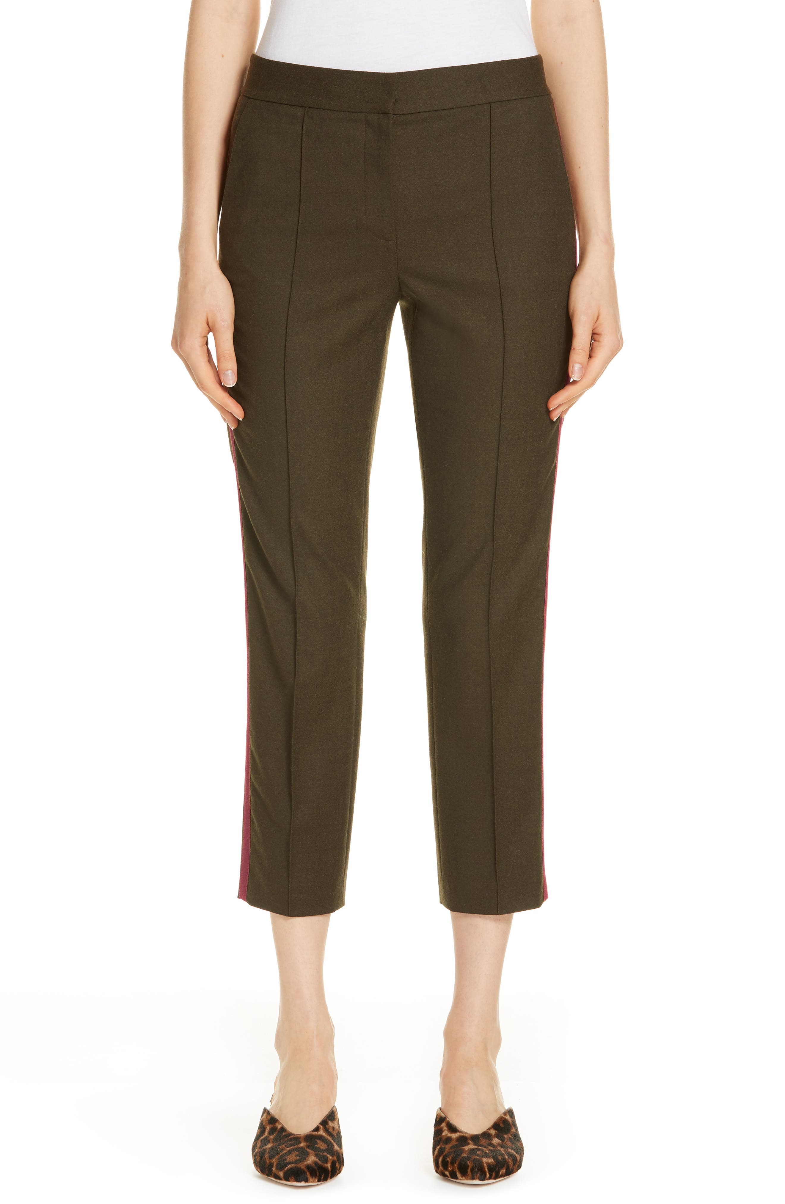 Side Stripe Stretch Flannel Pants,                             Main thumbnail 1, color,                             301