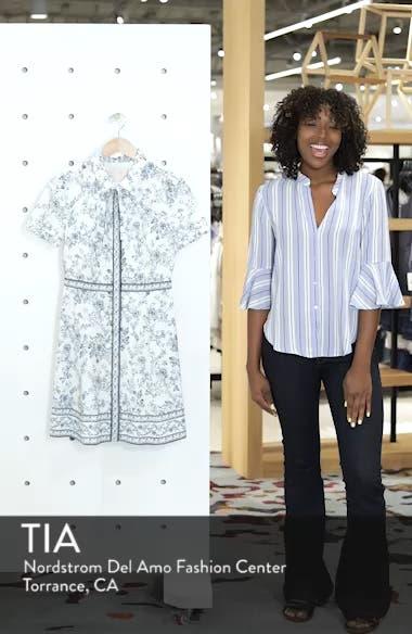 Darla Cotton Toile Shirtdress, sales video thumbnail