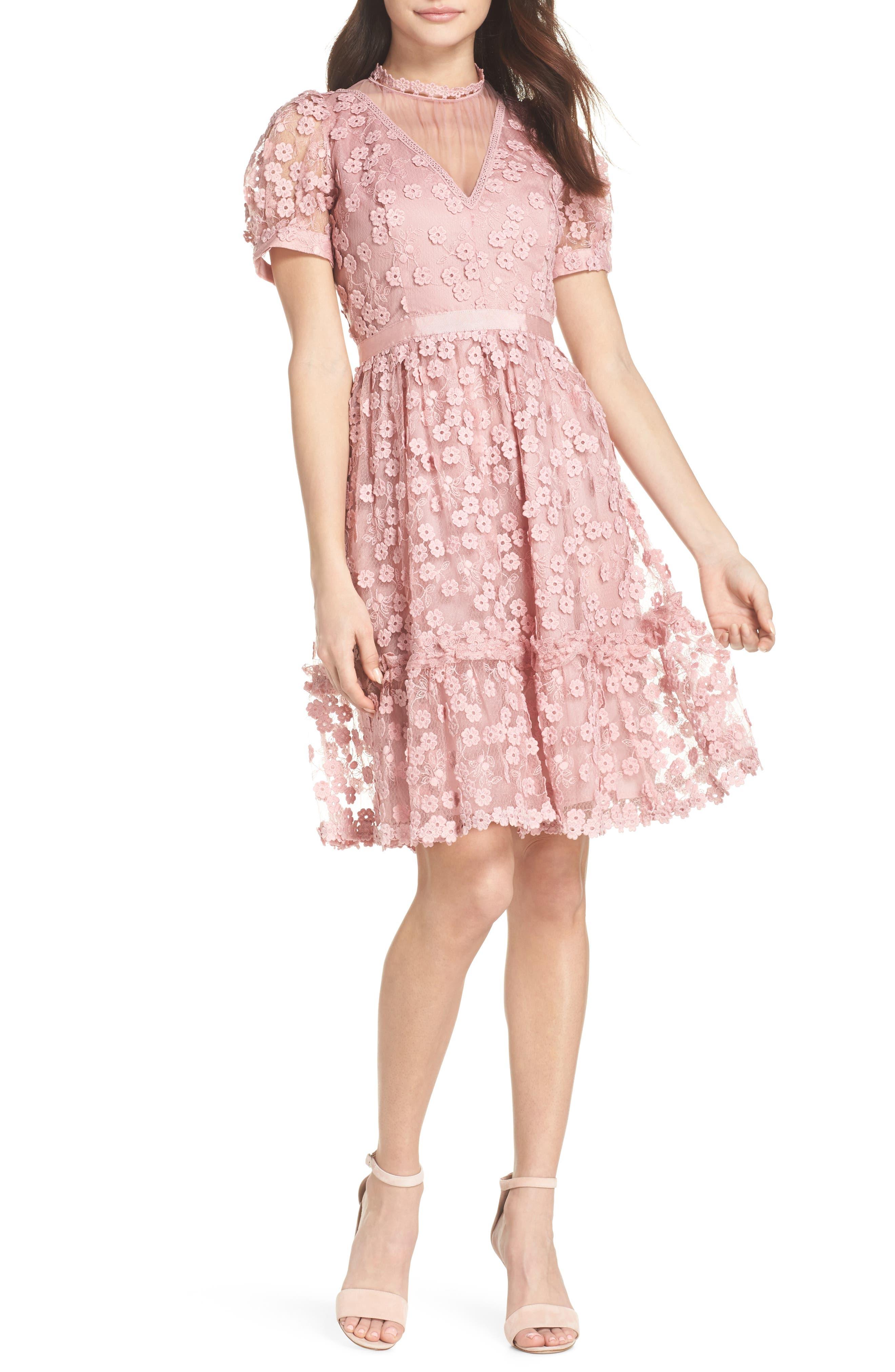 Caballo Lace Dress,                         Main,                         color, 655