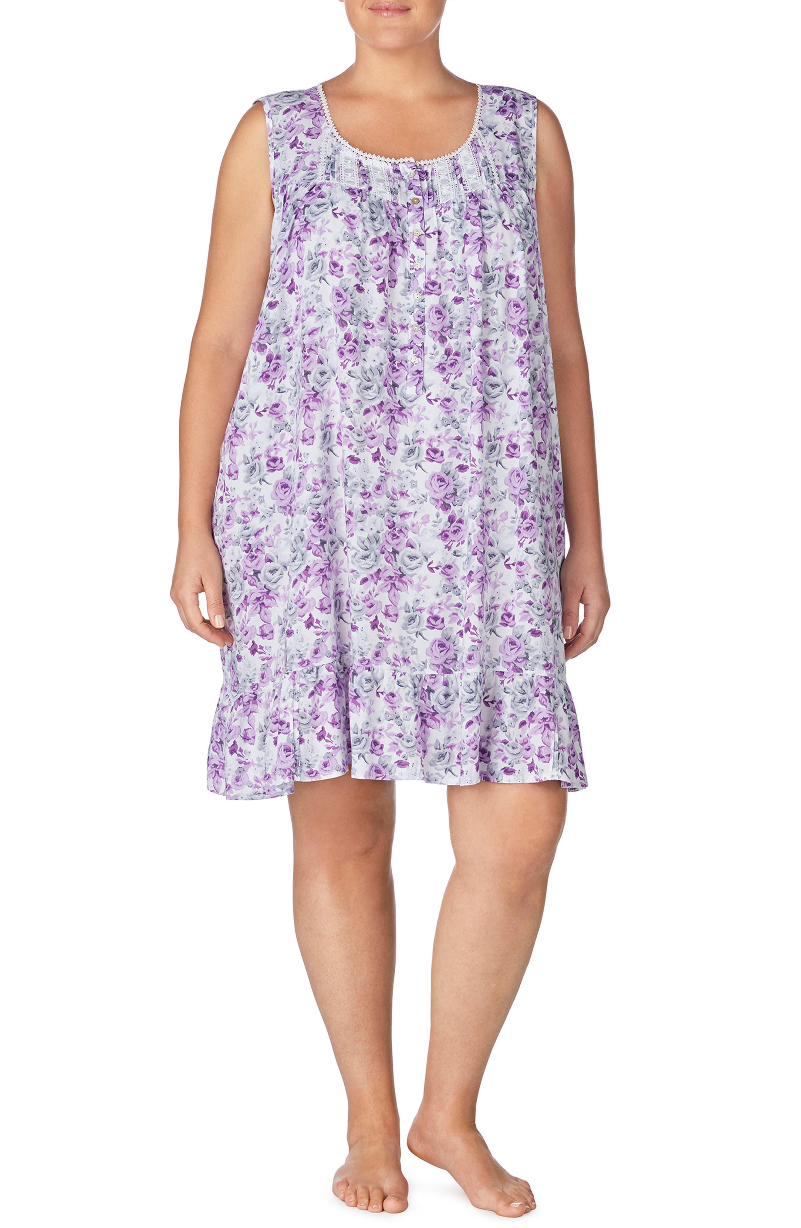 Plus Size Eileen West Knit Waltz Nightgown
