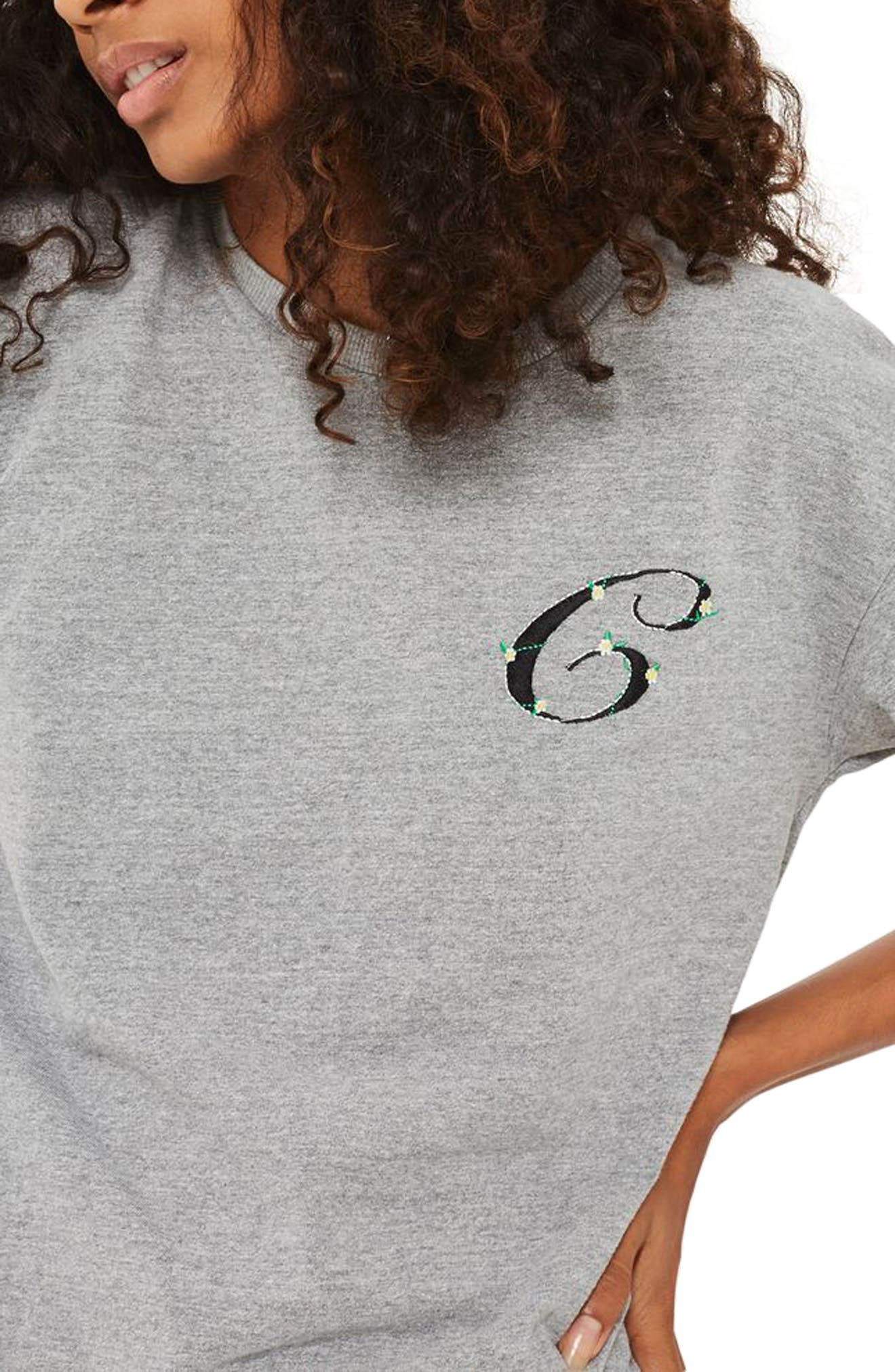 Initial Embroidered Tee,                         Main,                         color, 020