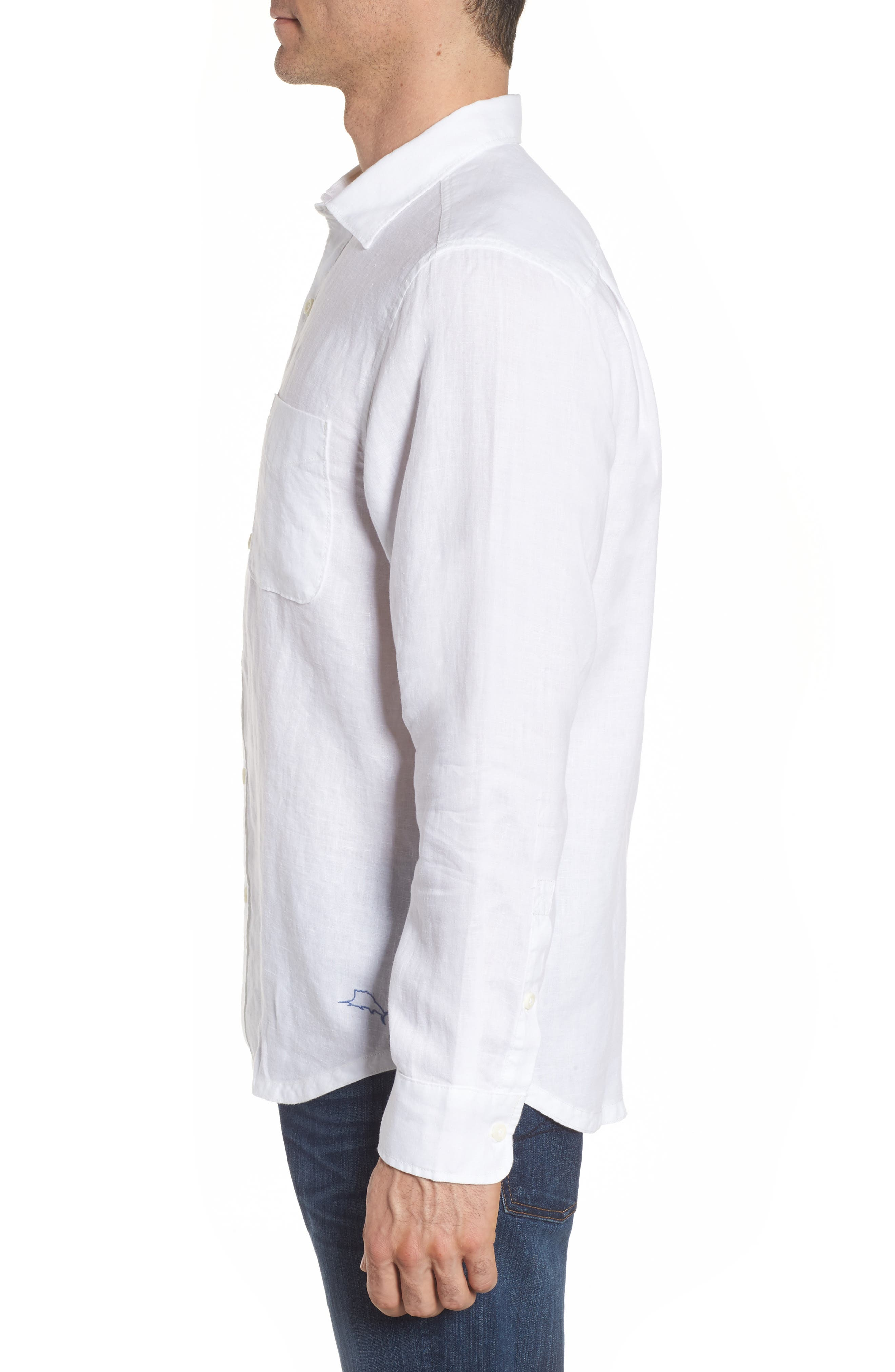 Seaspray Breezer Linen Shirt,                             Alternate thumbnail 9, color,
