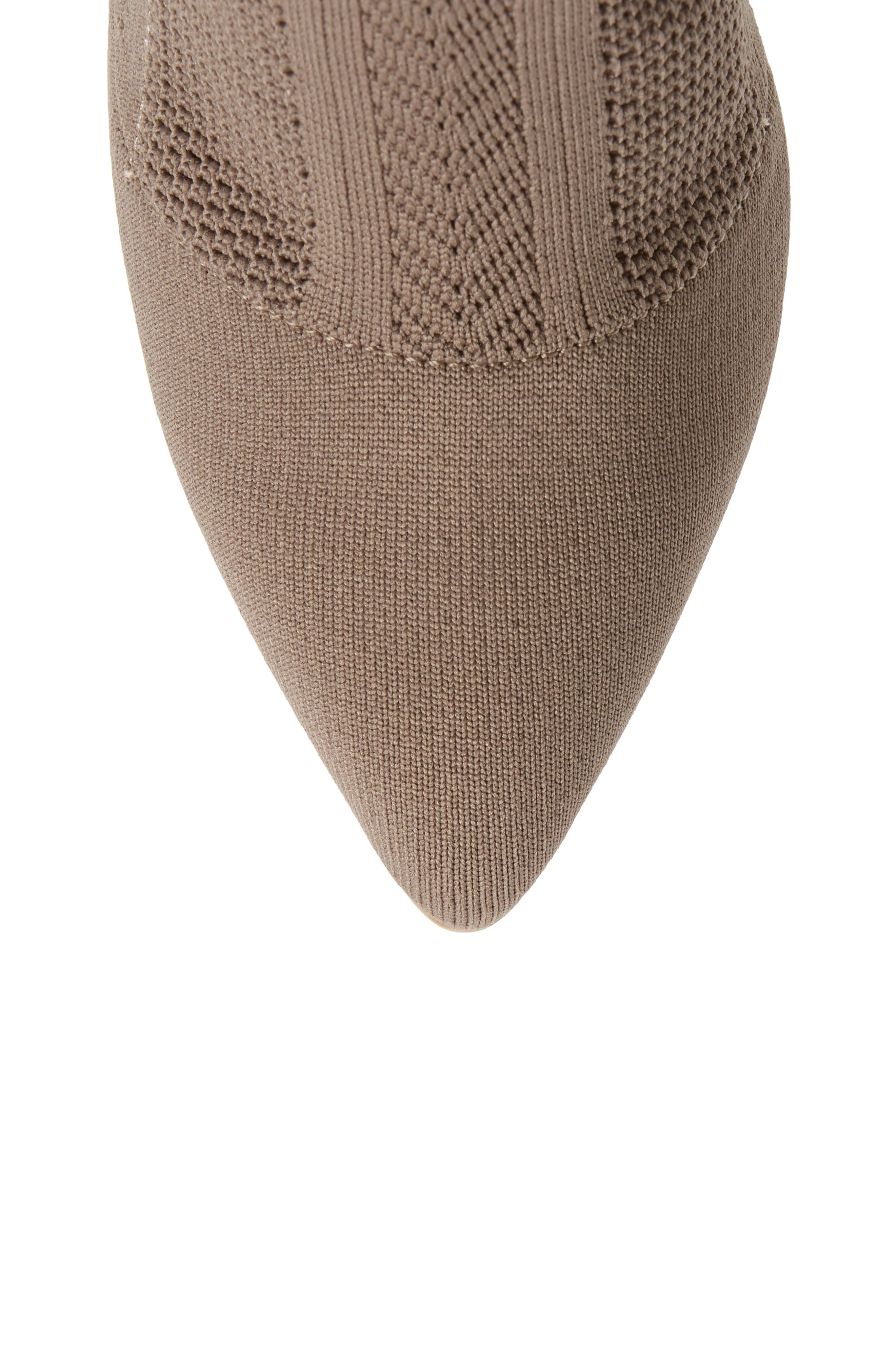 Davis Knit Boot,                             Alternate thumbnail 5, color,                             TAUPE FABRIC