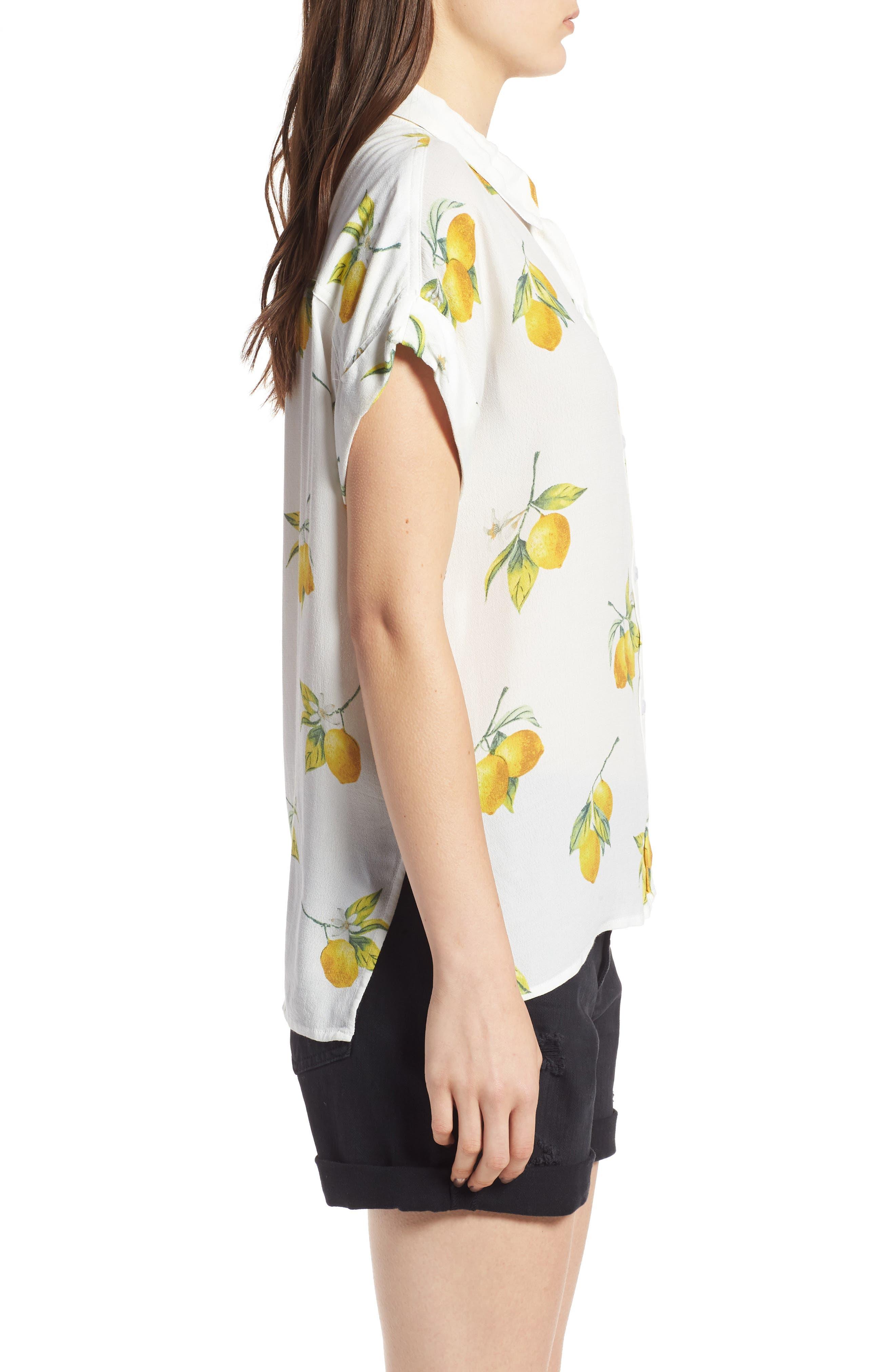 Whitney Print Shirt,                             Alternate thumbnail 3, color,                             100