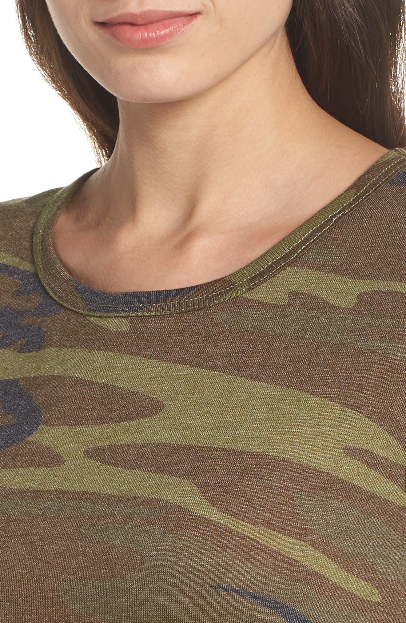 Ideal Print Tee,                             Alternate thumbnail 4, color,                             CAMO