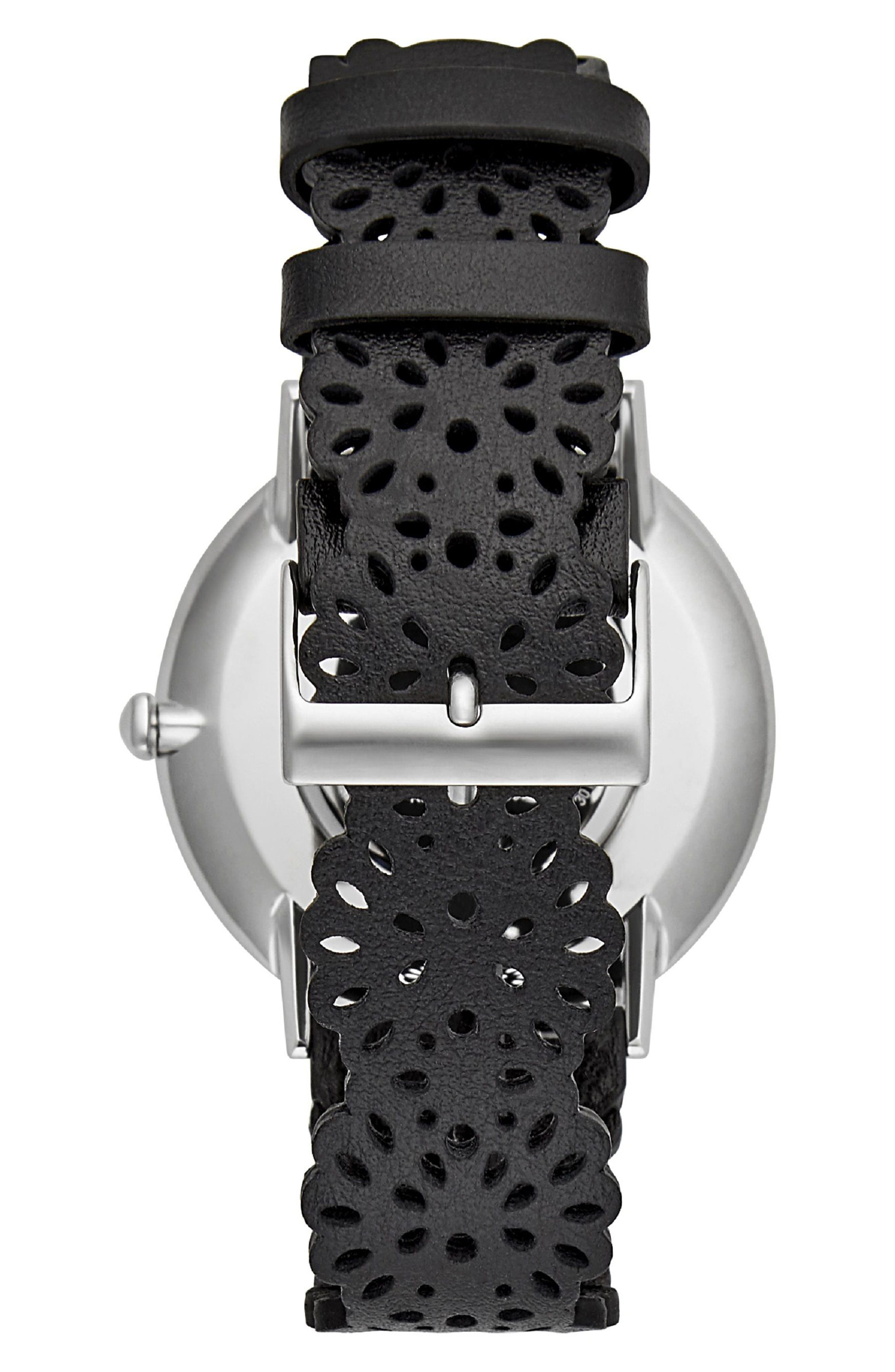 Major Etched Leather Strap Watch, 40mm,                             Alternate thumbnail 2, color,                             001