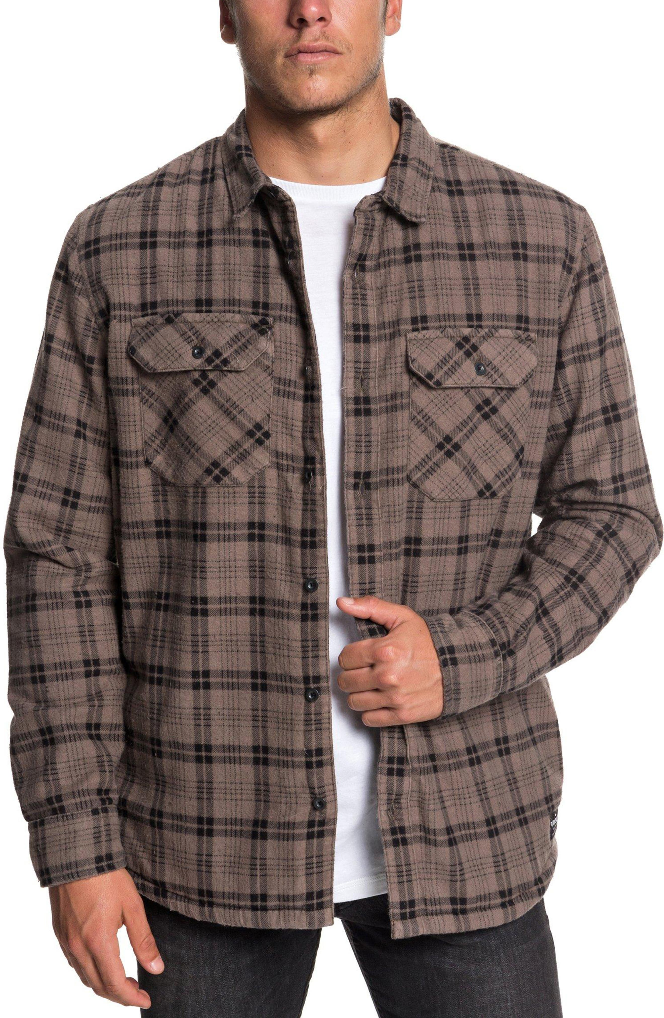 QUIKSILVER Ikura Lined Flannel Shirt in Falcon Printed Check