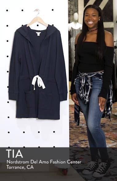 Tie Waist Knit Hooded Jacket, sales video thumbnail