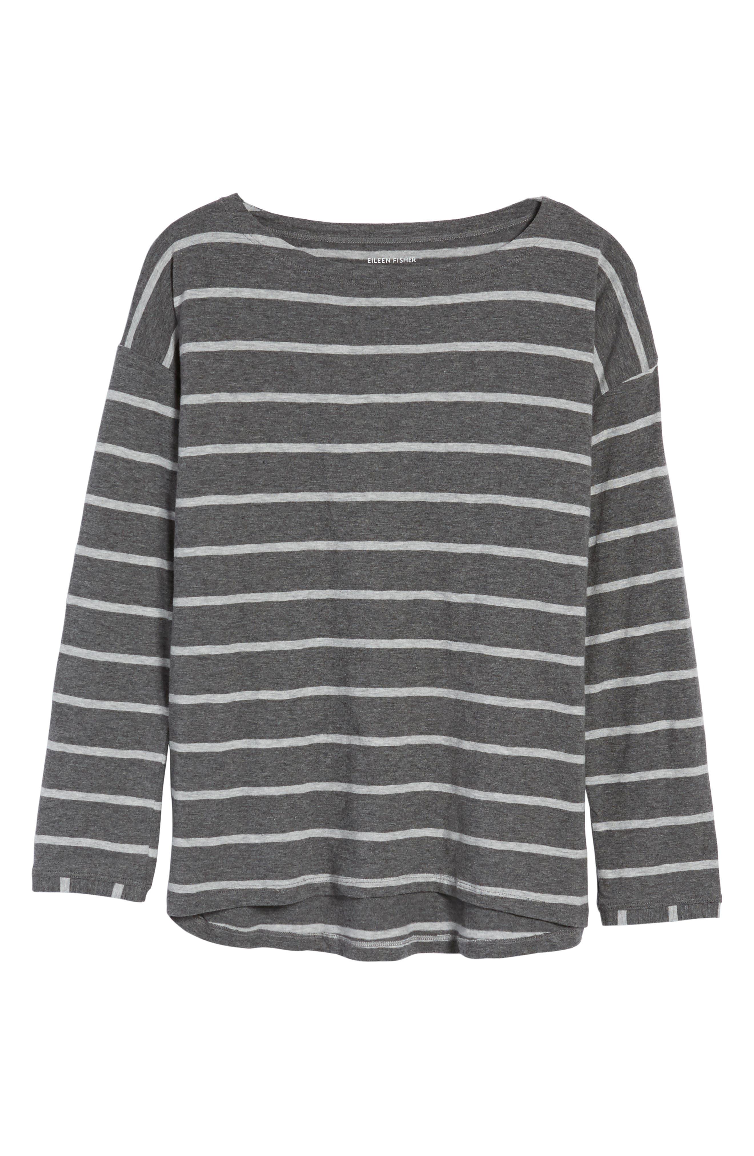 Stripe Organic Cotton Top,                             Alternate thumbnail 6, color,                             030
