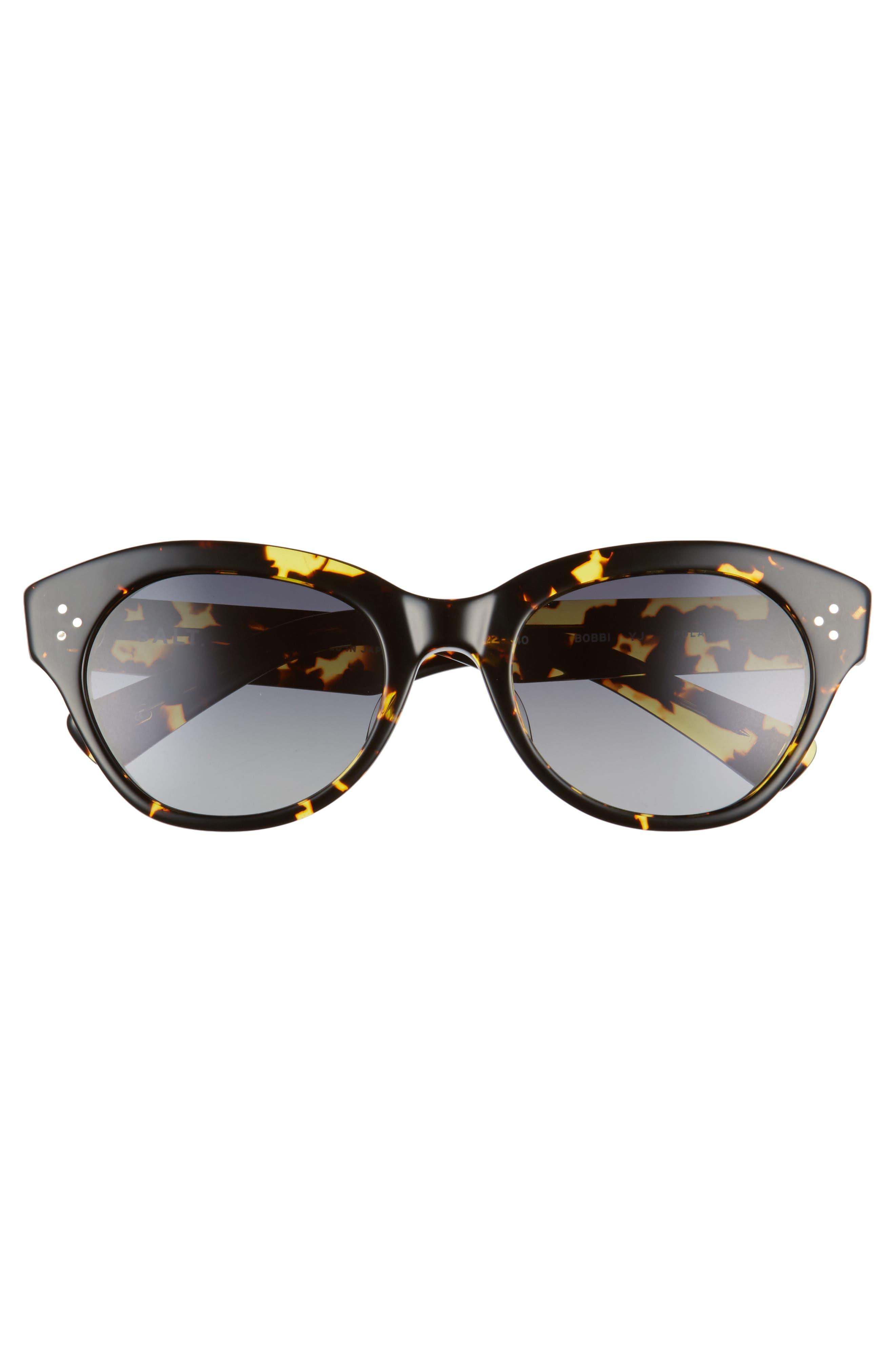 Bobbi 53mm Cat Eye Polarized Sunglasses,                             Alternate thumbnail 3, color,                             001