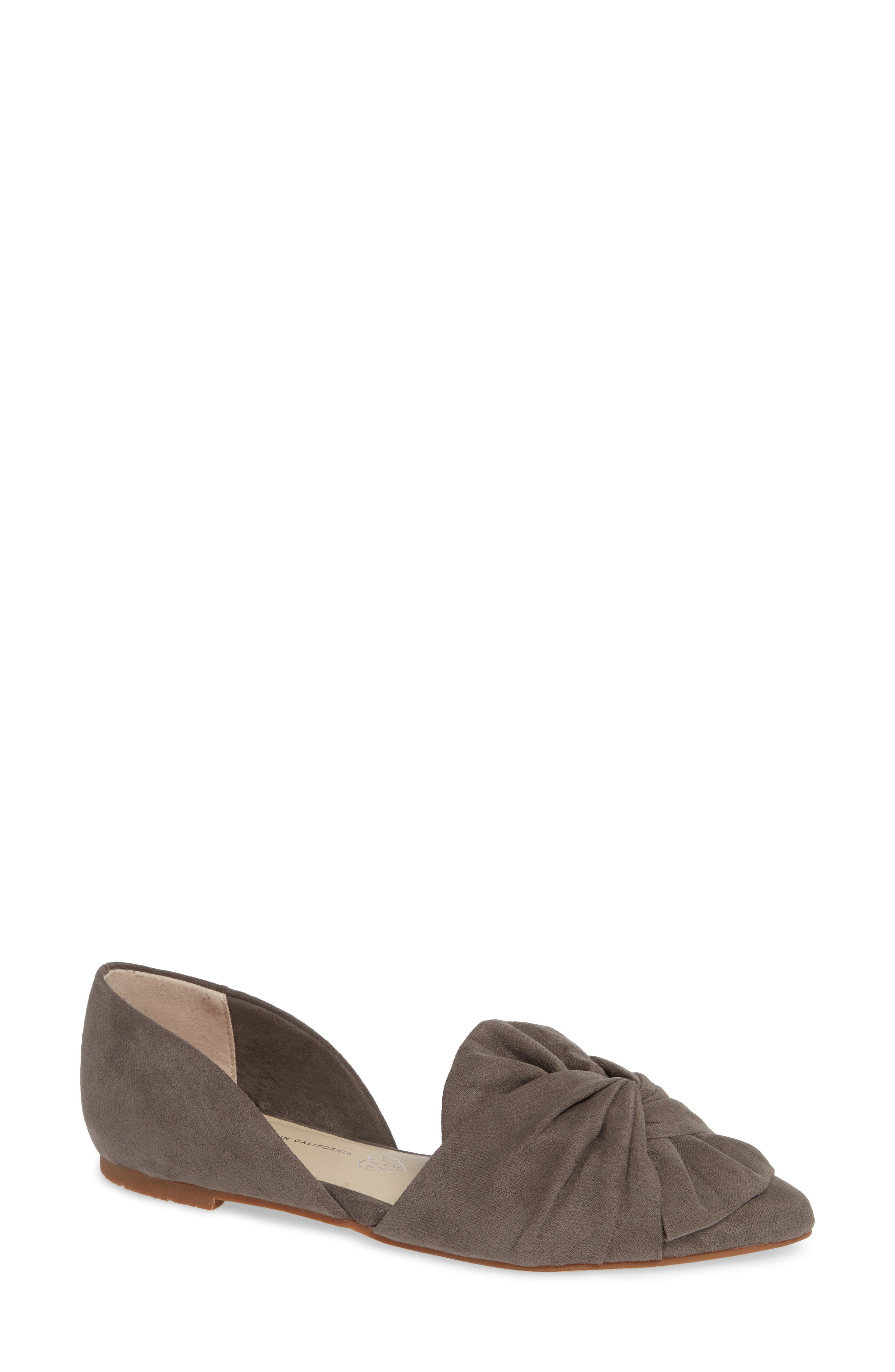 Snow Cone d'Orsay Flat,                             Main thumbnail 1, color,                             GREY SUEDE