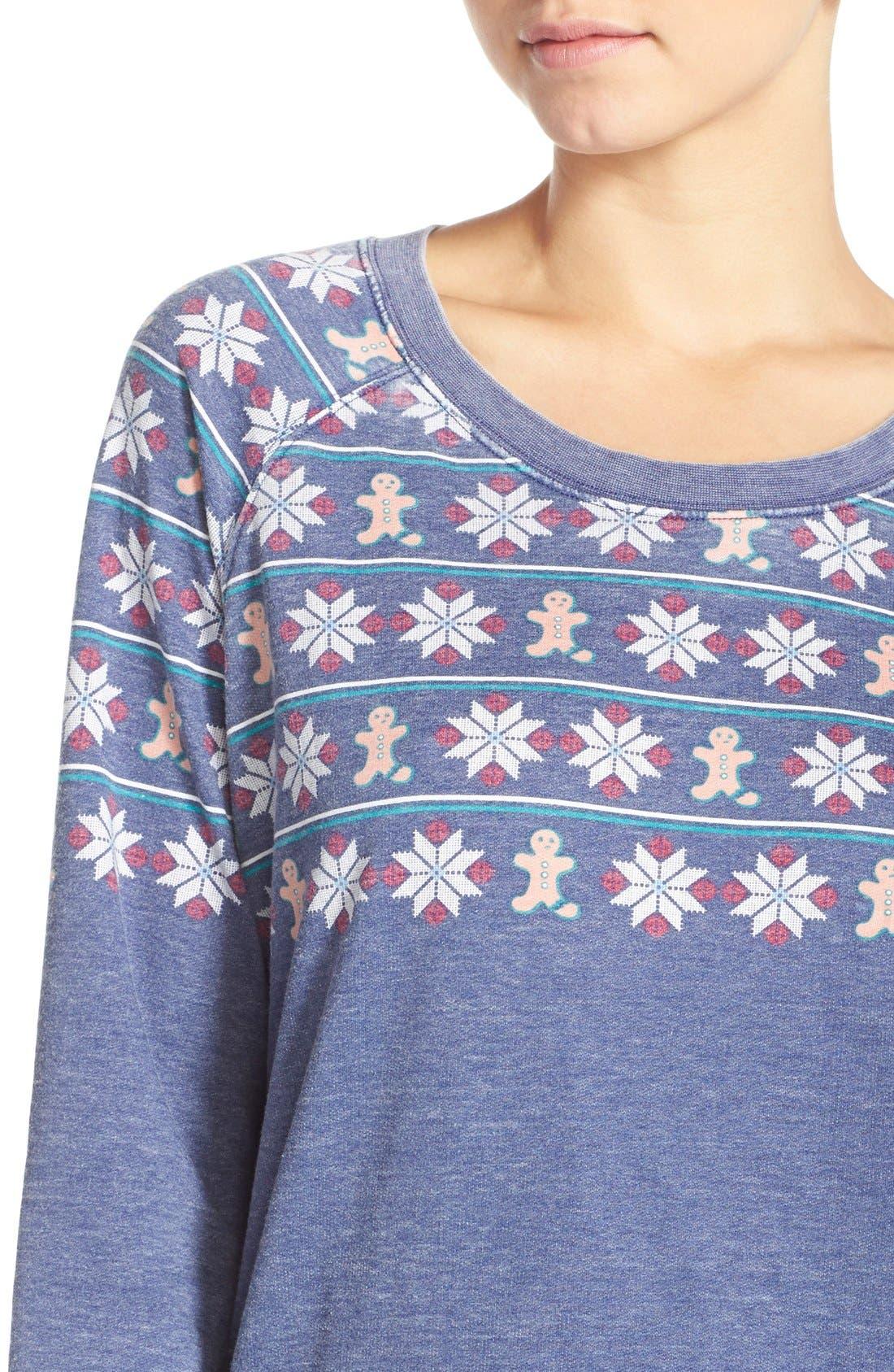 Burnout Lounge Sweatshirt,                             Alternate thumbnail 161, color,