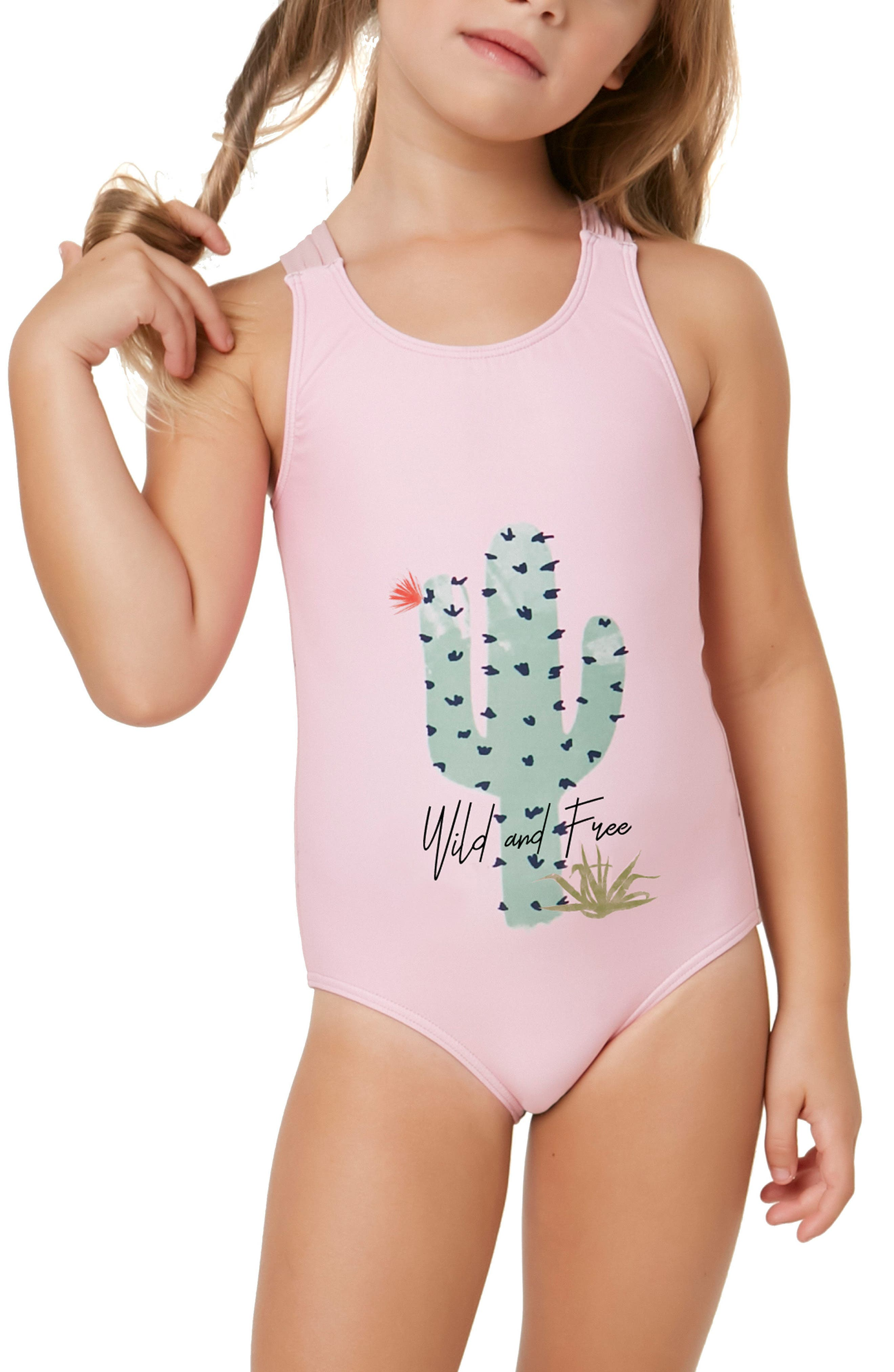 Cacti One-Piece Swimsuit,                             Alternate thumbnail 4, color,                             650