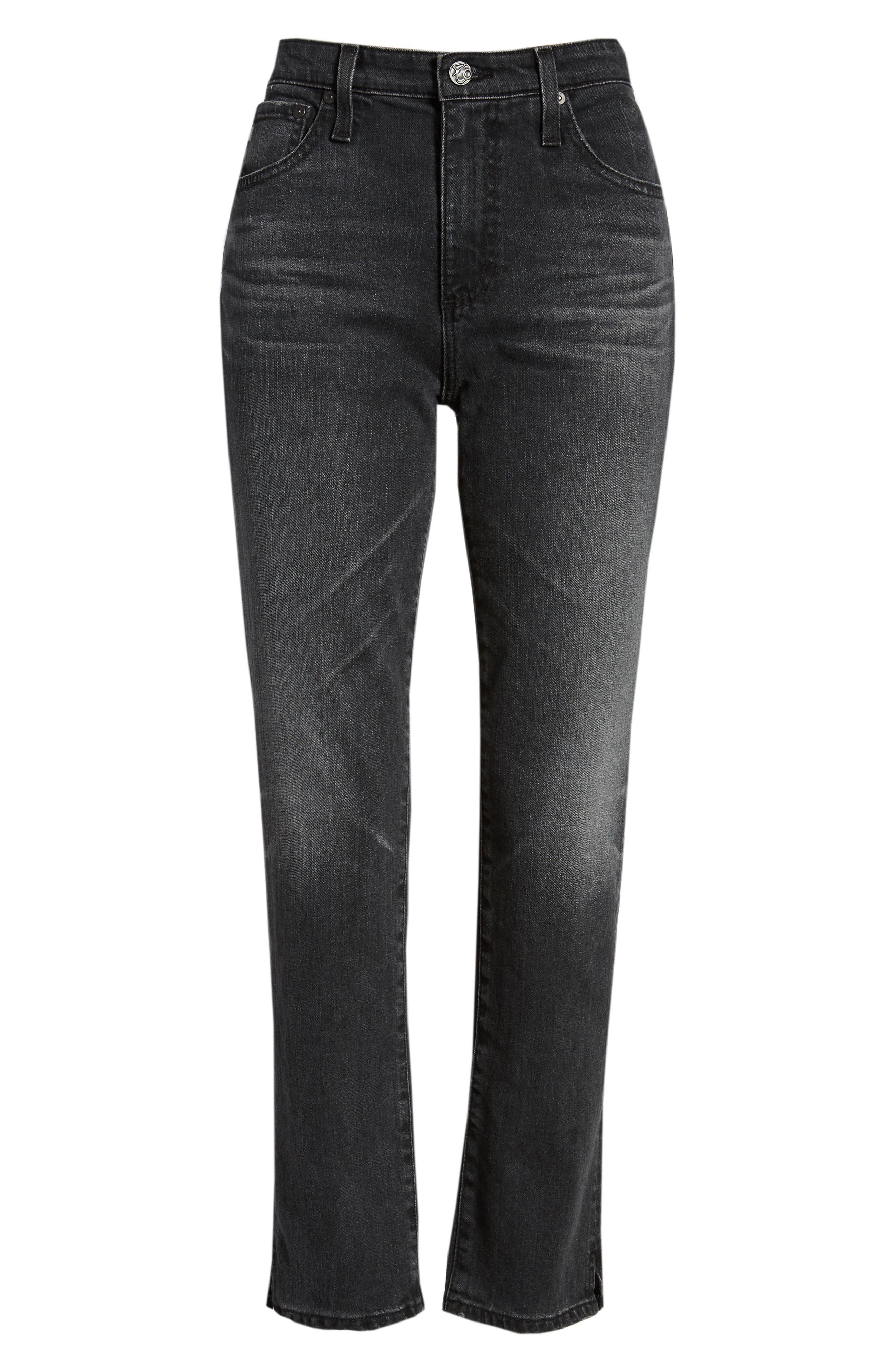 The Isabelle High Waist Ankle Straight Leg Jeans,                             Alternate thumbnail 6, color,                             019
