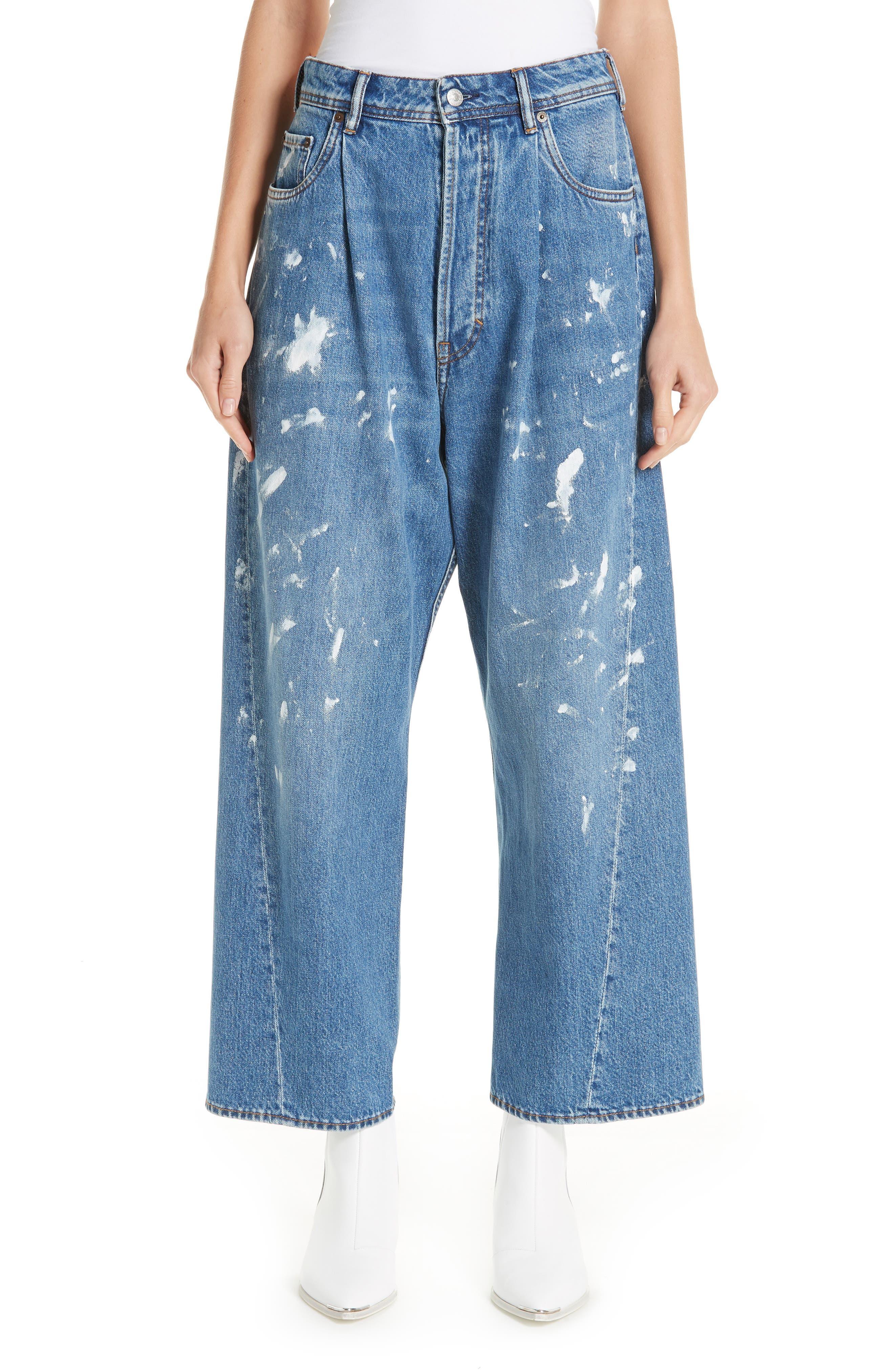 ACNE STUDIOS,                             Oversized Jeans,                             Main thumbnail 1, color,                             400