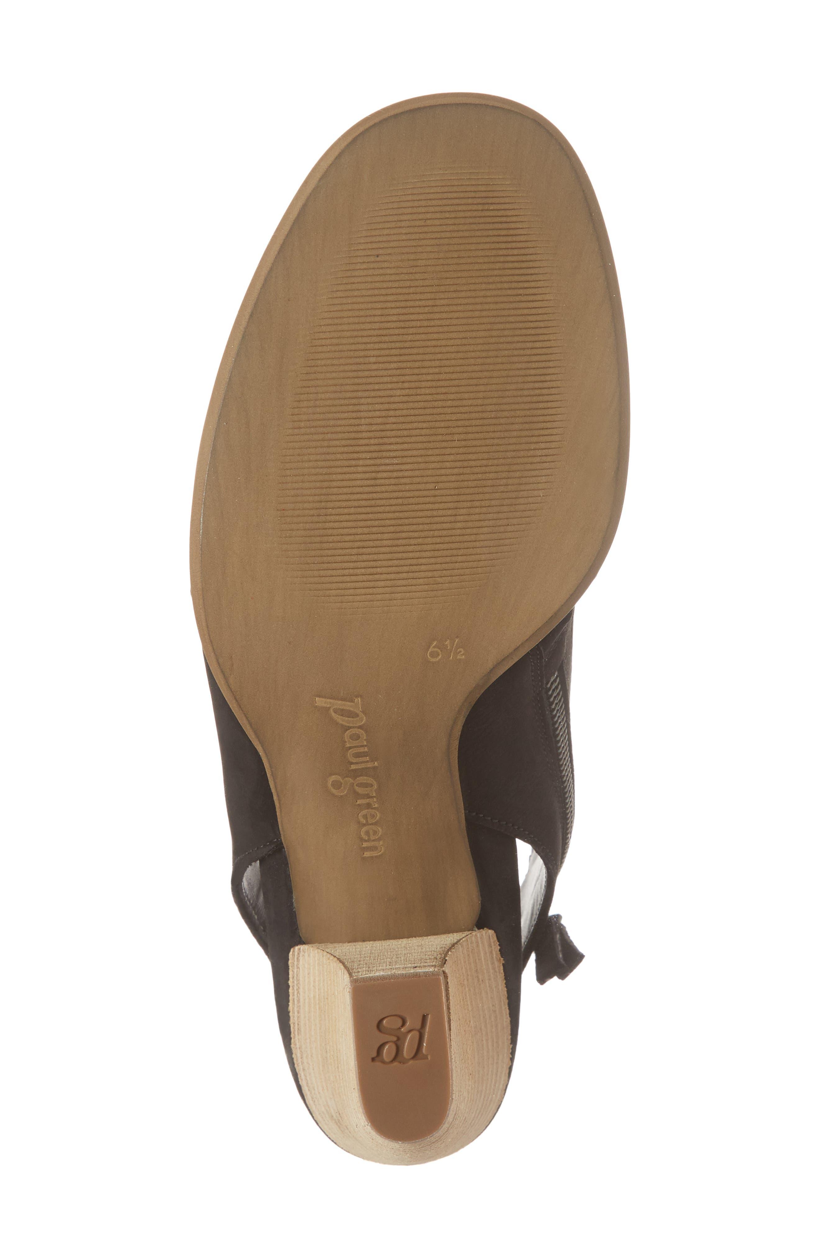 Rosa Woven Peep Toe Sandal,                             Alternate thumbnail 6, color,                             BLACK NUBUCK