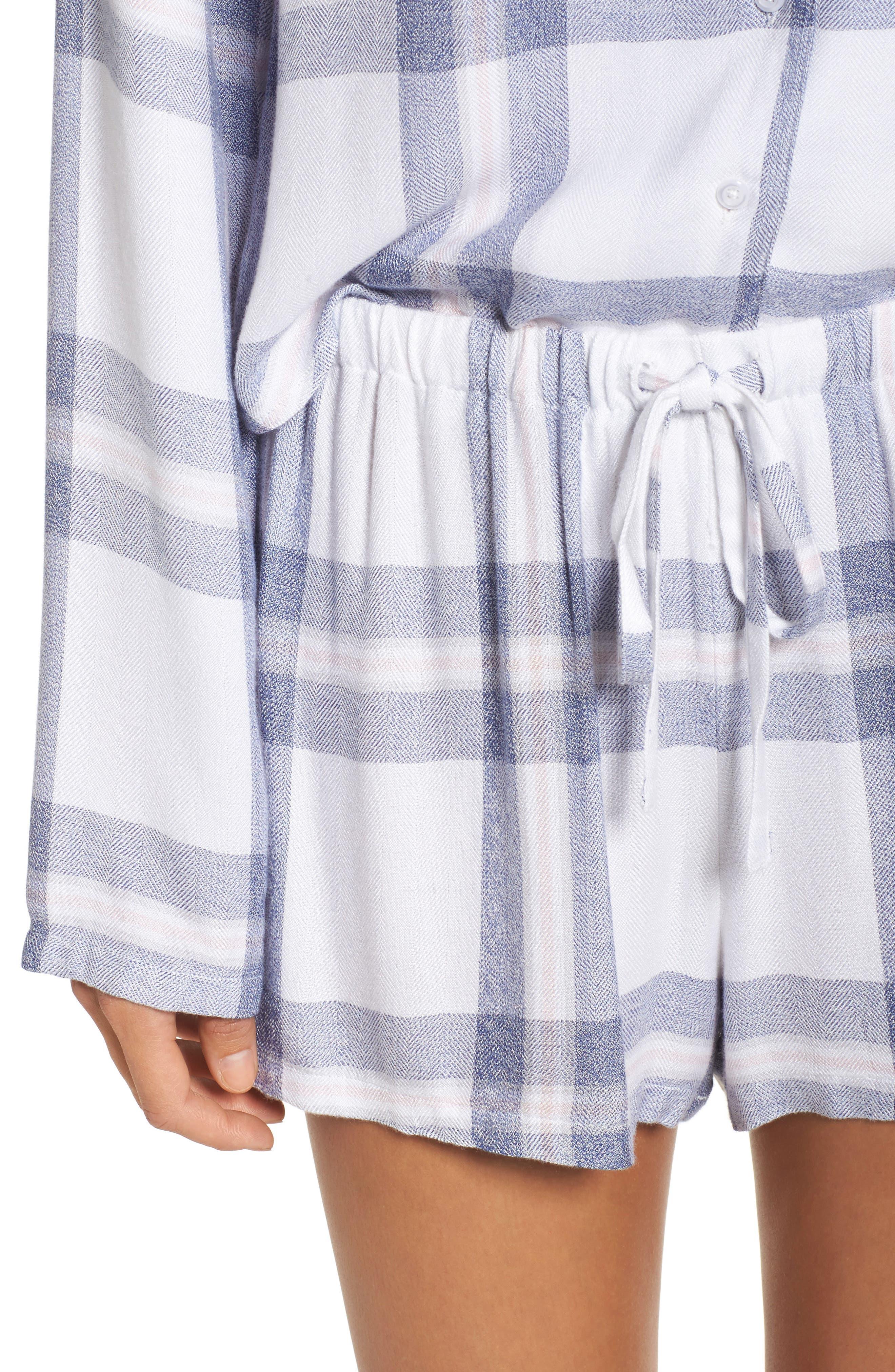 Plaid Short Pajamas,                             Alternate thumbnail 4, color,