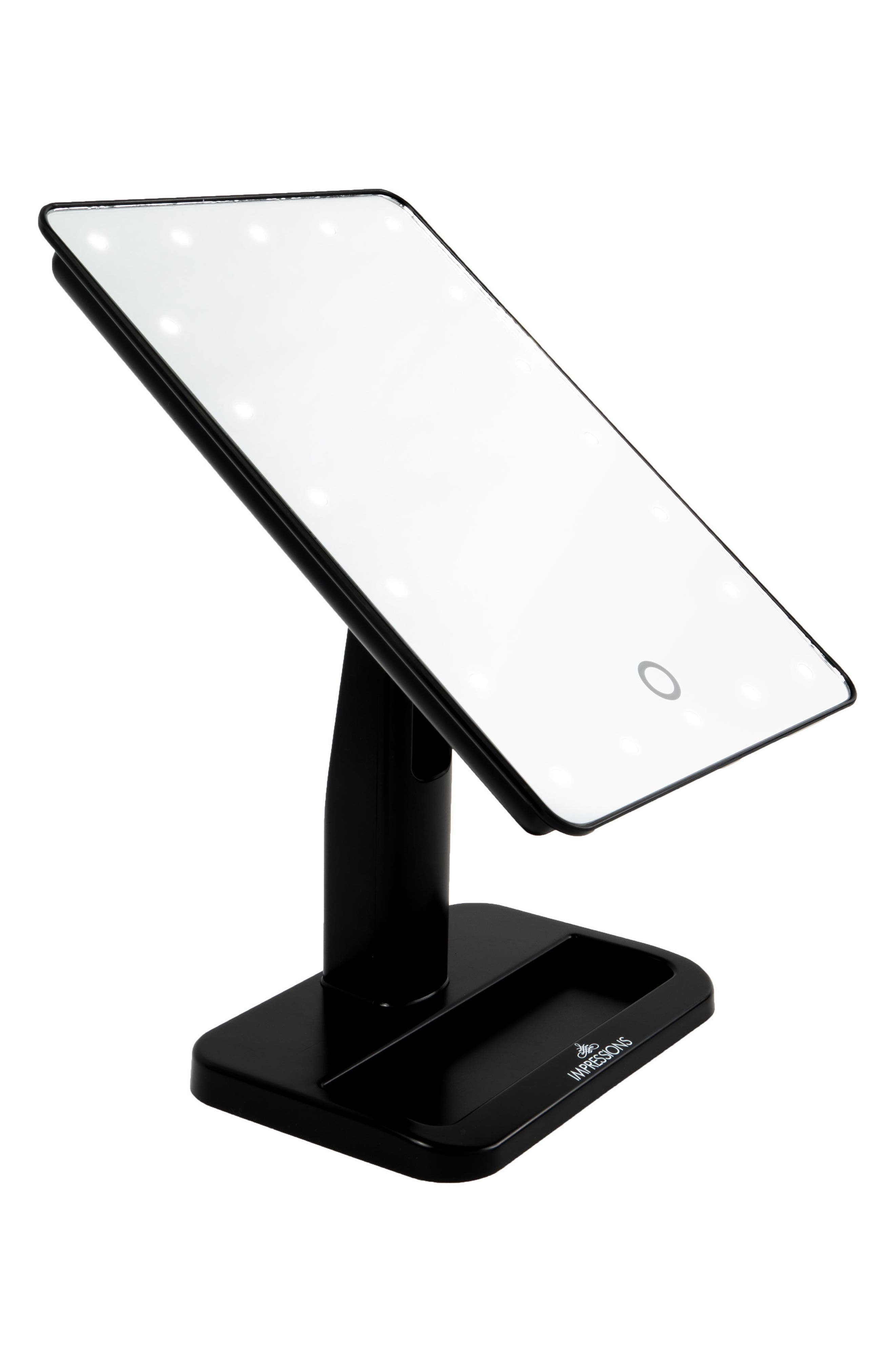 Touch XL Dimmable LED Makeup Mirror with Removable 5x Mirror,                             Alternate thumbnail 4, color,                             001