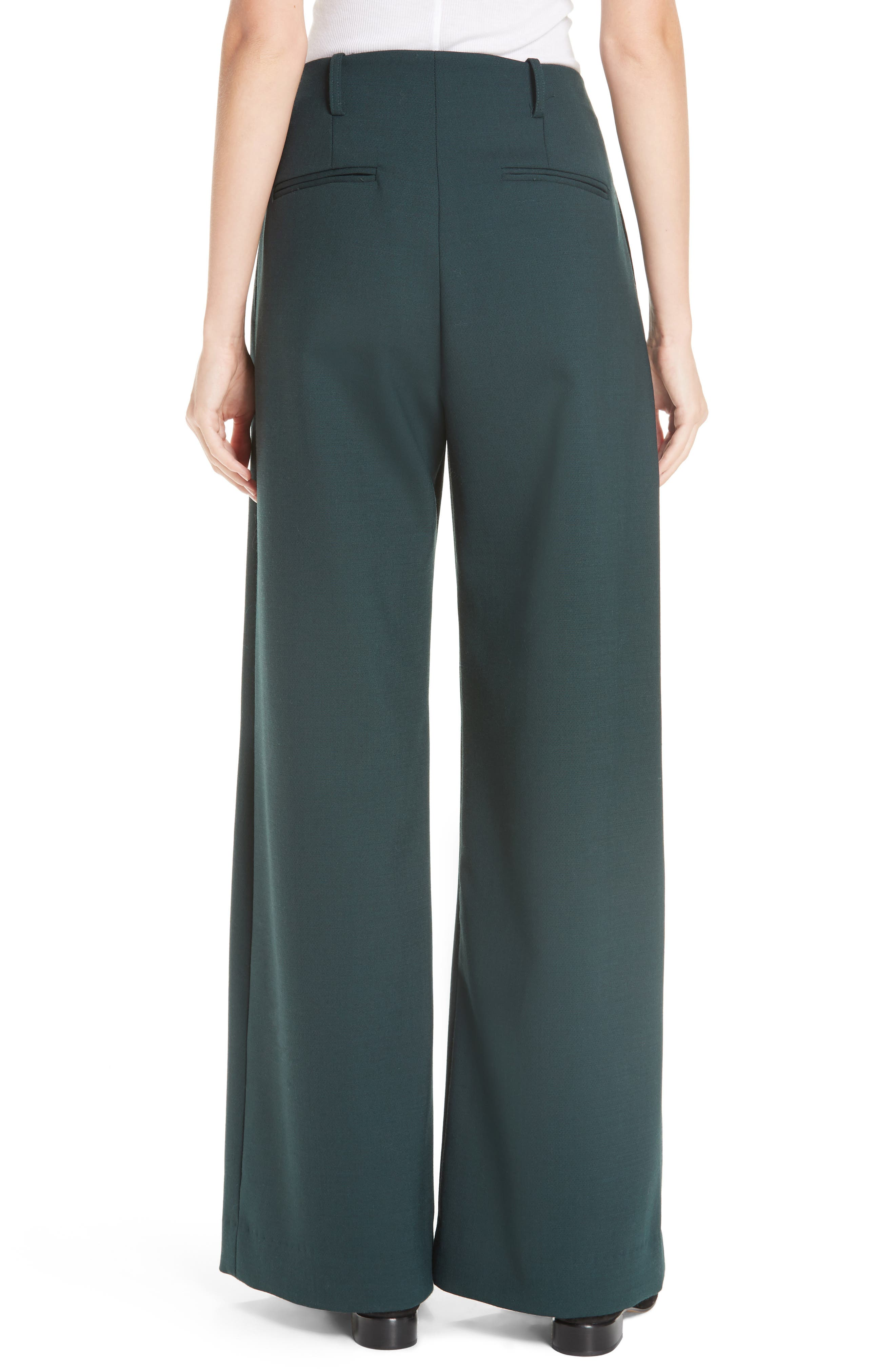 Seamed Wide Leg Trousers,                             Alternate thumbnail 2, color,                             300