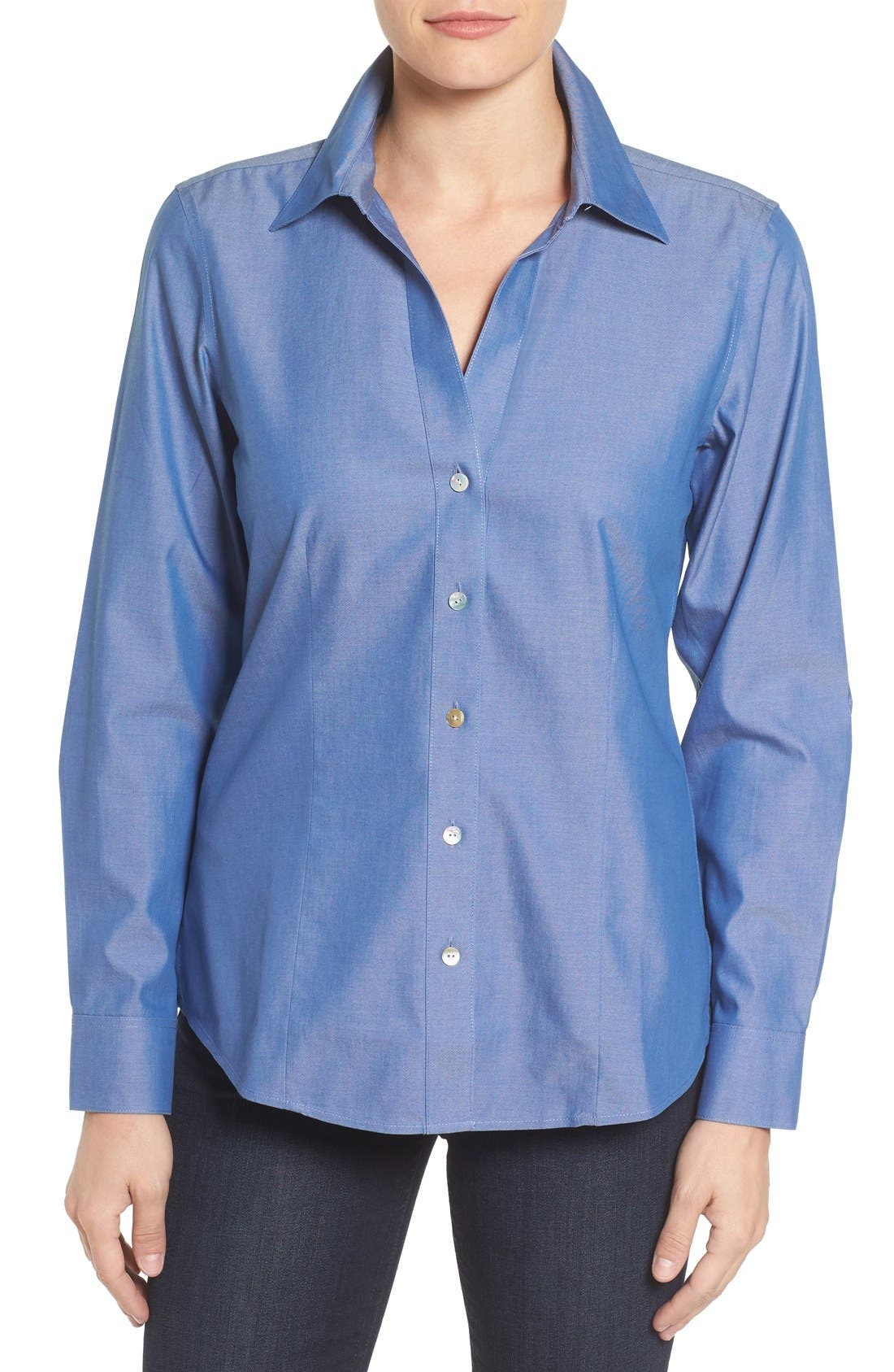 Non-Iron Fitted Shirt,                             Main thumbnail 3, color,