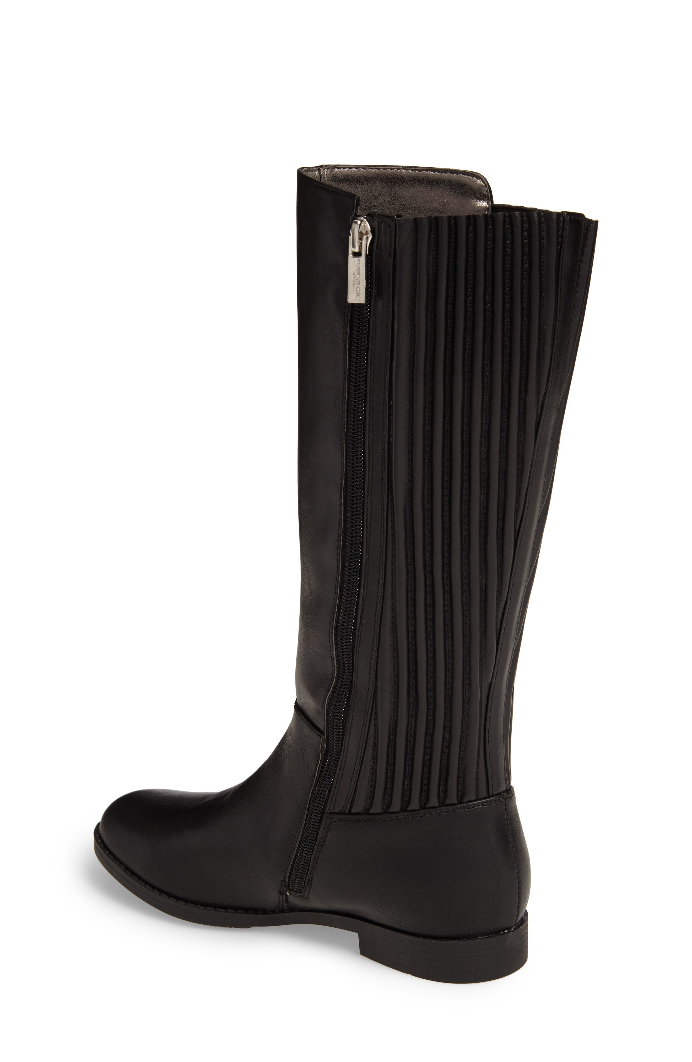 Kennedy Pleated Riding Boot,                             Alternate thumbnail 3, color,