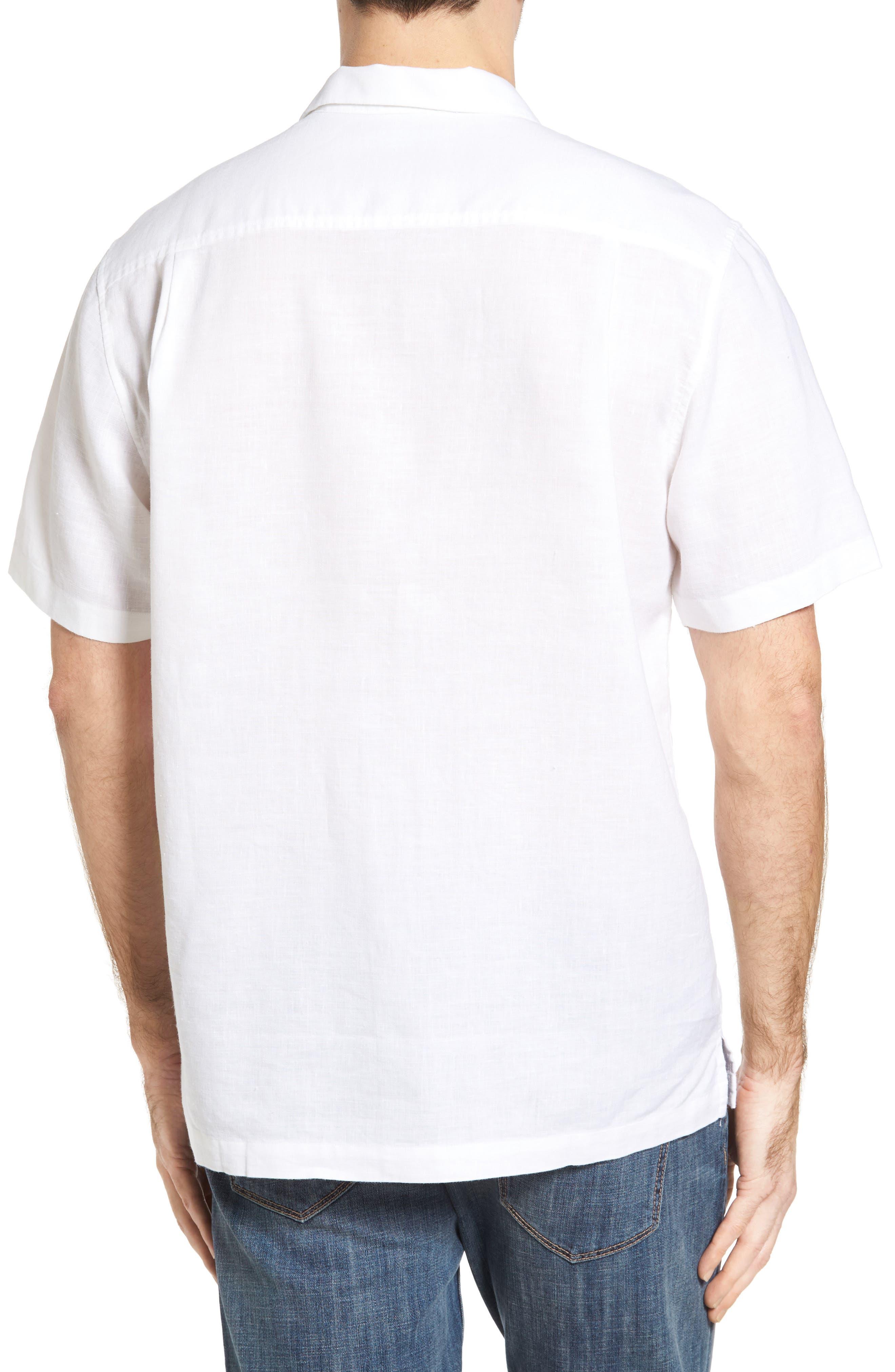 Monaco Tides Standard Fit Linen Blend Camp Shirt,                             Alternate thumbnail 8, color,