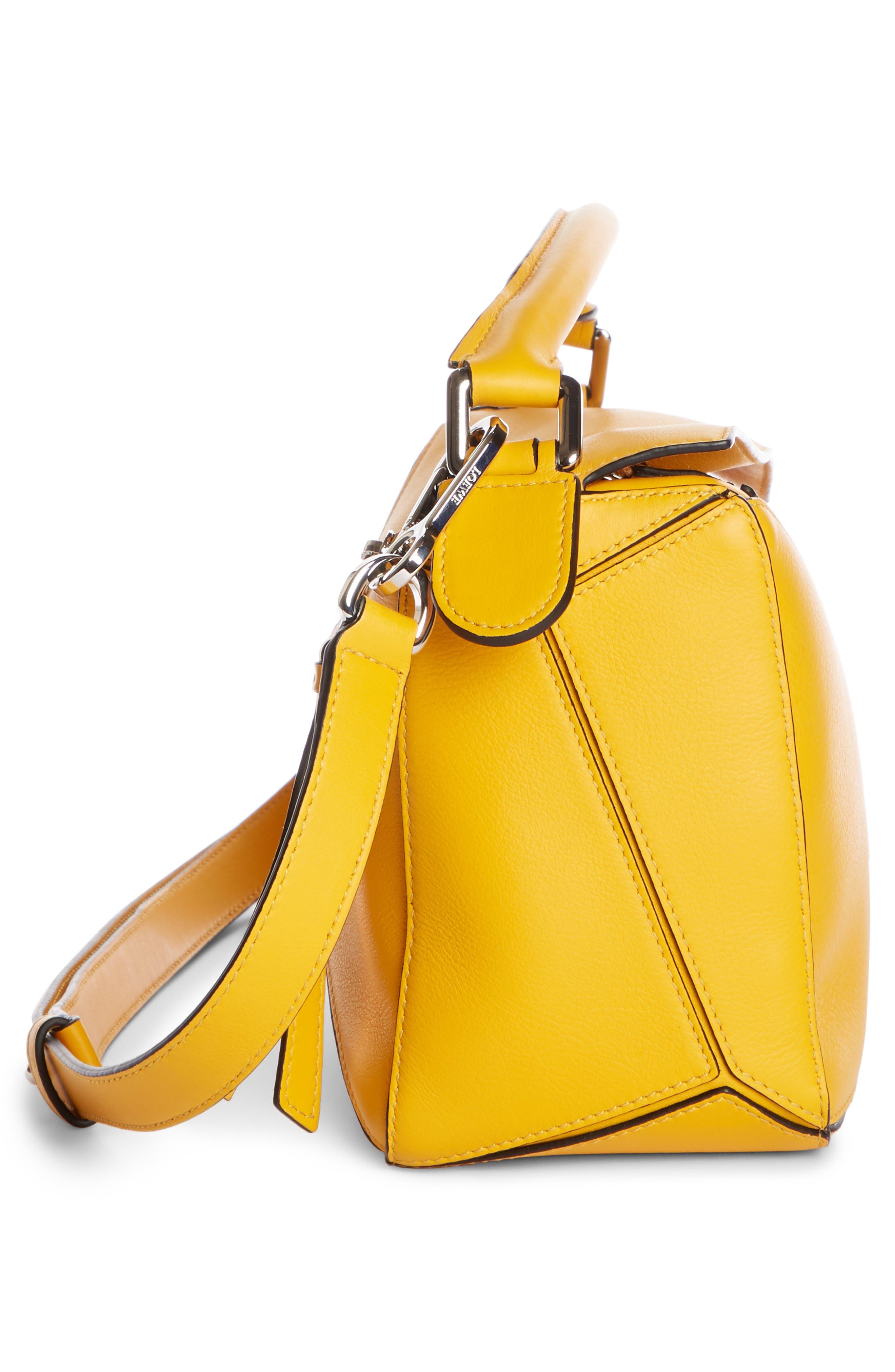 LOEWE,                             Small Puzzle Shoulder Bag,                             Alternate thumbnail 5, color,                             YELLOW MANGO